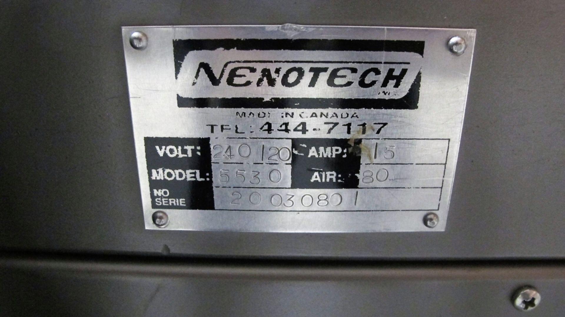 """Lot 150 - NENOTECH BAR SEALER MODEL 5530 W/ FRONT AND SIDE BAR SEALER, 24"""" BELT CONVEYOR, S/N 20030801"""