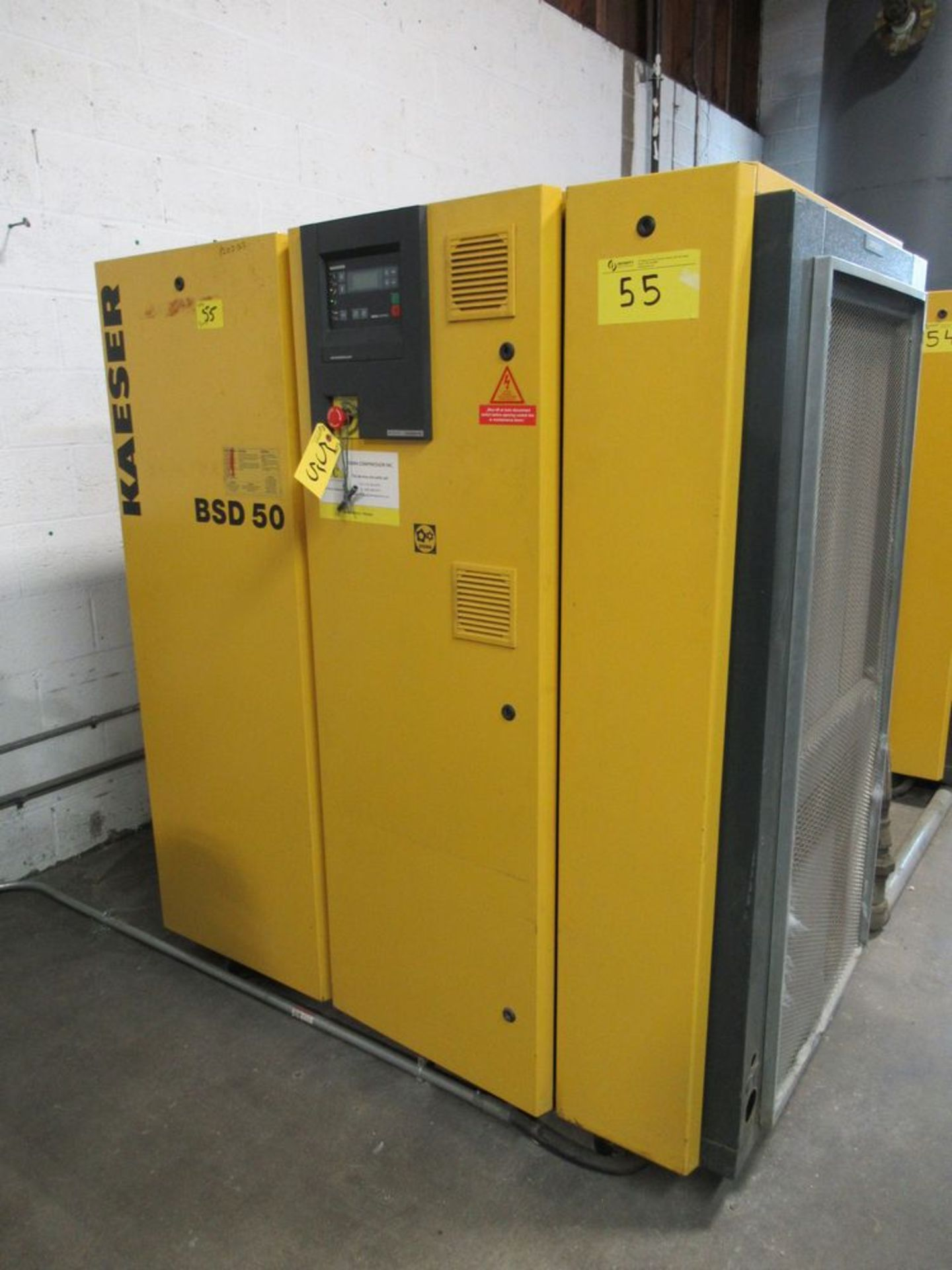 2002 KAESER BSD-50 50HP AIR COMPRESSOR W/ SIGMA CONTROL, S/N 1002 - Image 2 of 4