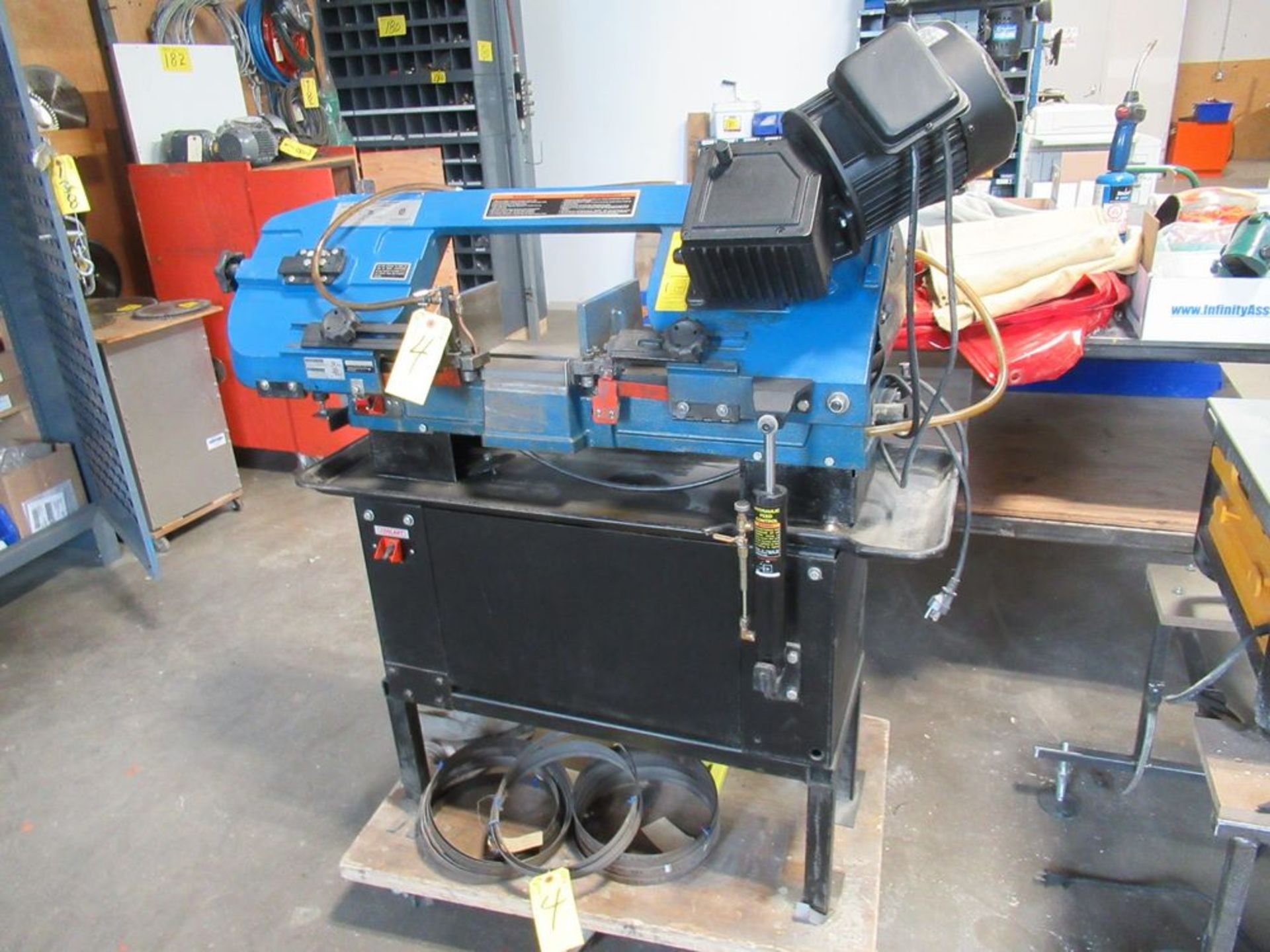 """JET JHVG-712 7"""" X 12"""" 3-SPEED HORIZONTAL BANDSAW W/ SAW BLADES AND ROLLER STAND, S/N 14071991 - Image 2 of 5"""