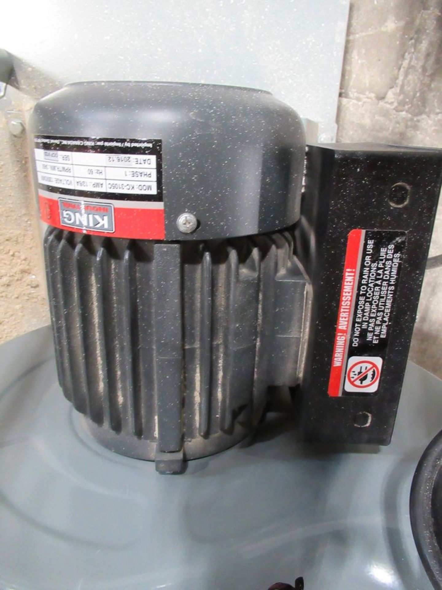 2017 KING INDUSTRIAL KC-3105C 1200 CFM 1.5HP APPROX. PORTABLE DUST COLLECTOR, S/N 17010100 - Image 4 of 4
