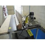 GENERAL FLUSH BOLT ROUTER TABLE W/ 2-PORTER CABLE 1001, 1001-T2 ROUTERS W/ BASES