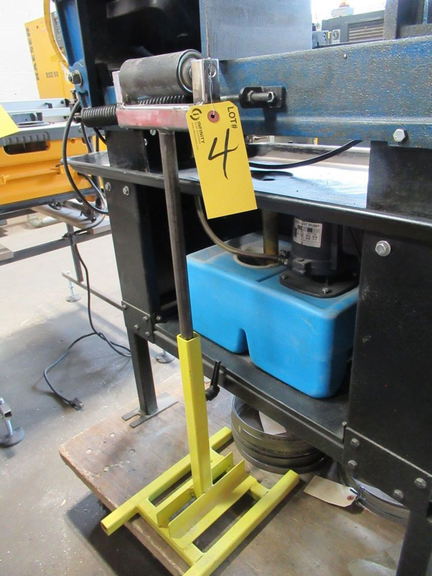 """JET JHVG-712 7"""" X 12"""" 3-SPEED HORIZONTAL BANDSAW W/ SAW BLADES AND ROLLER STAND, S/N 14071991 - Image 4 of 5"""