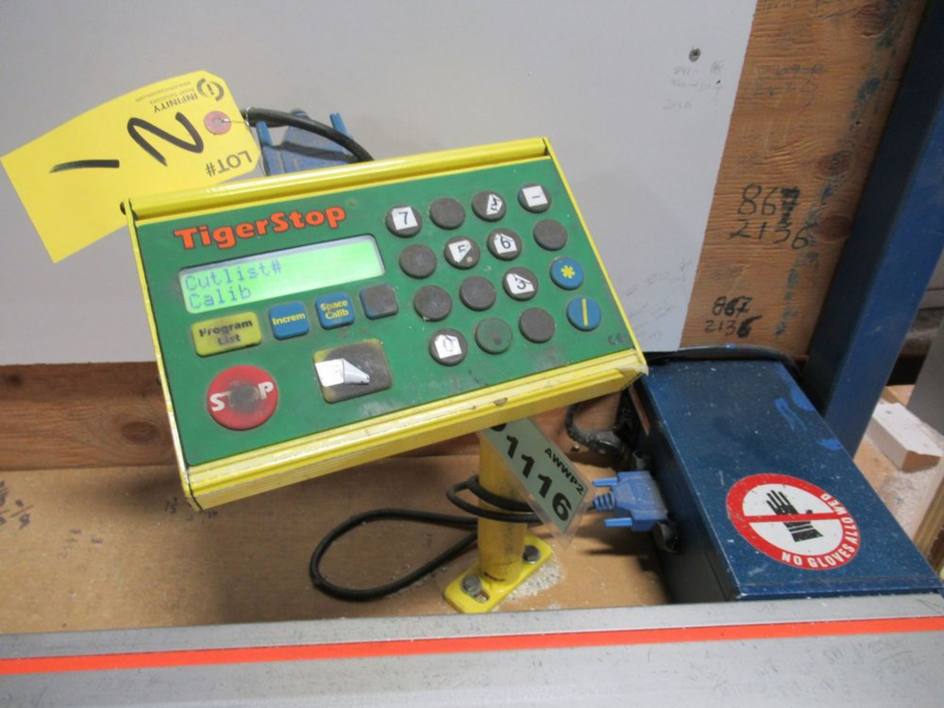 """TIGER STOP 10' MATERIAL MEASURING SYSTEM W/ 24"""" X 10' TABLE - Image 4 of 4"""
