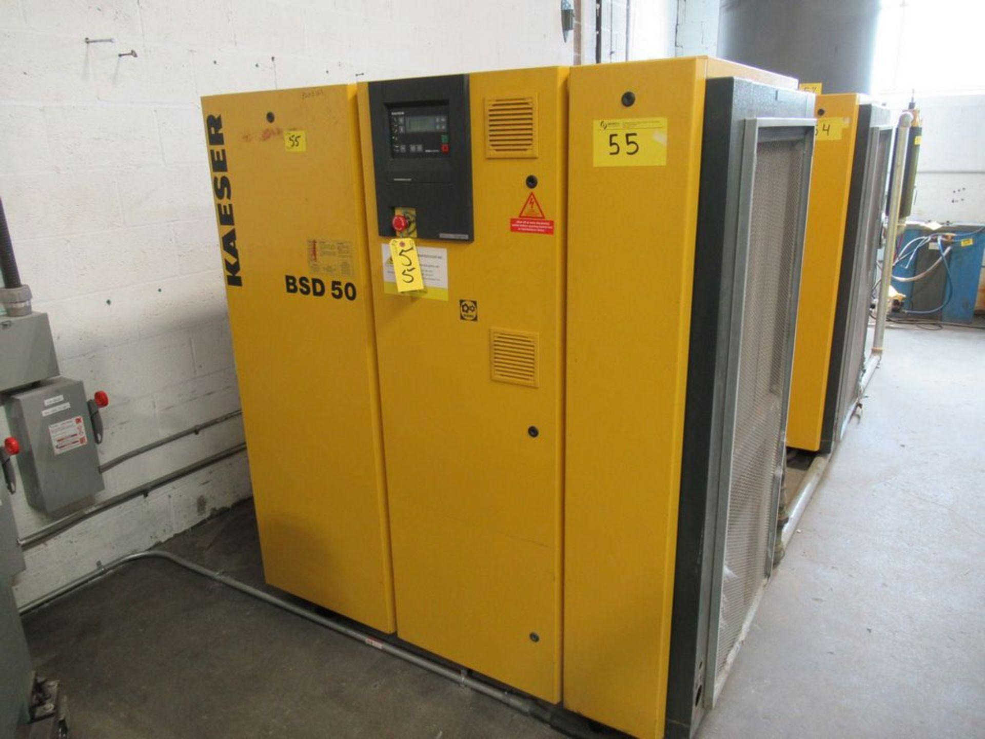 2002 KAESER BSD-50 50HP AIR COMPRESSOR W/ SIGMA CONTROL, S/N 1002