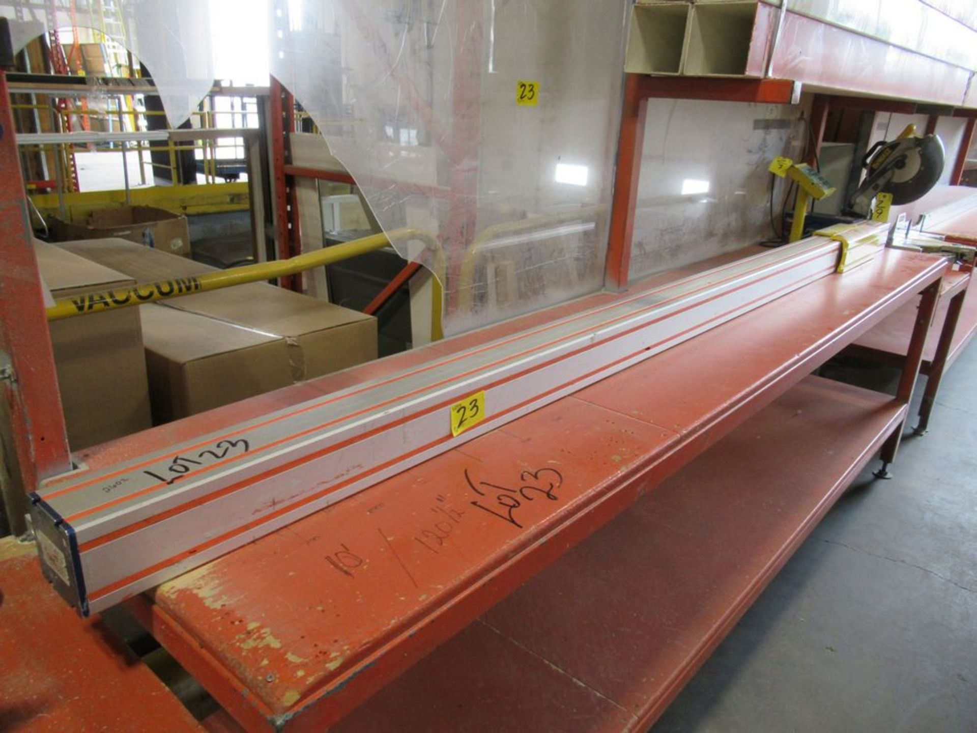 """TIGER STOP 10' MATERIAL MEASURING SYSTEM W/ 24"""" X 10' TABLE - Image 2 of 4"""