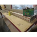 """TIGER STOP 12' MATERIAL MEASURING SYSTEM W/ 22"""" X 12' TABLE"""