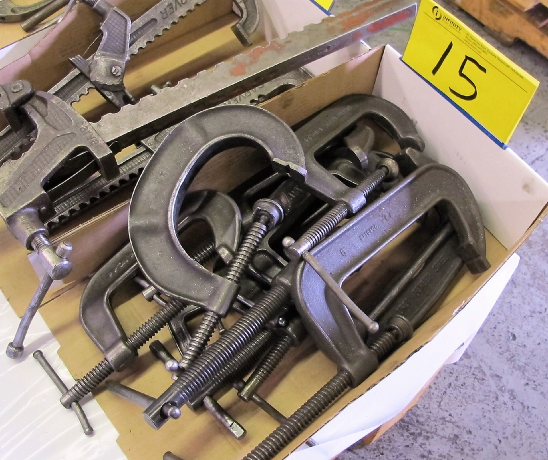 Lot 15 - LOT OF C CLAMPS