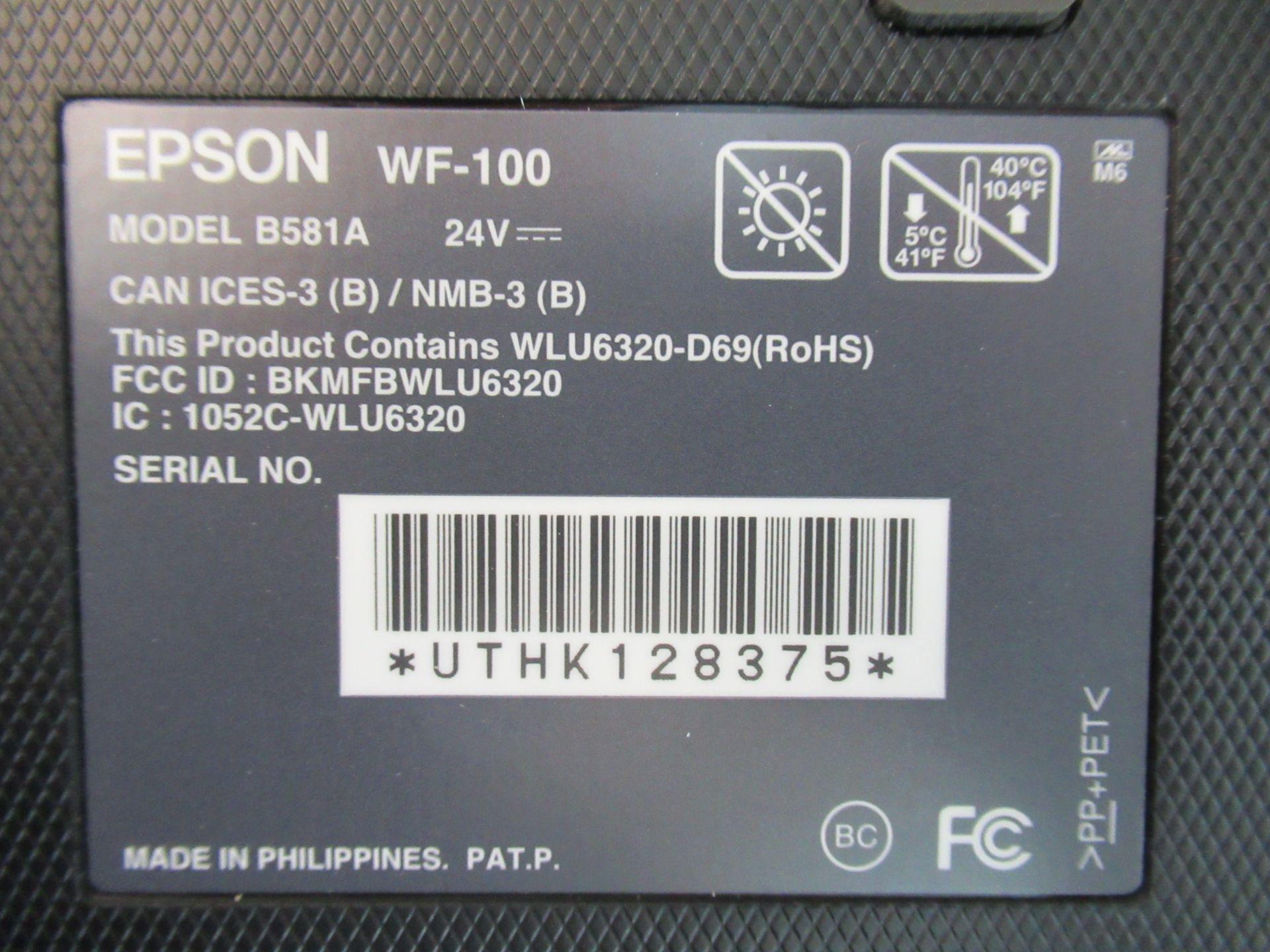 Lot 6223 - EPSON WORKFORCE, WF100, WIRELESS MOBILE PRINTER (REUTER)