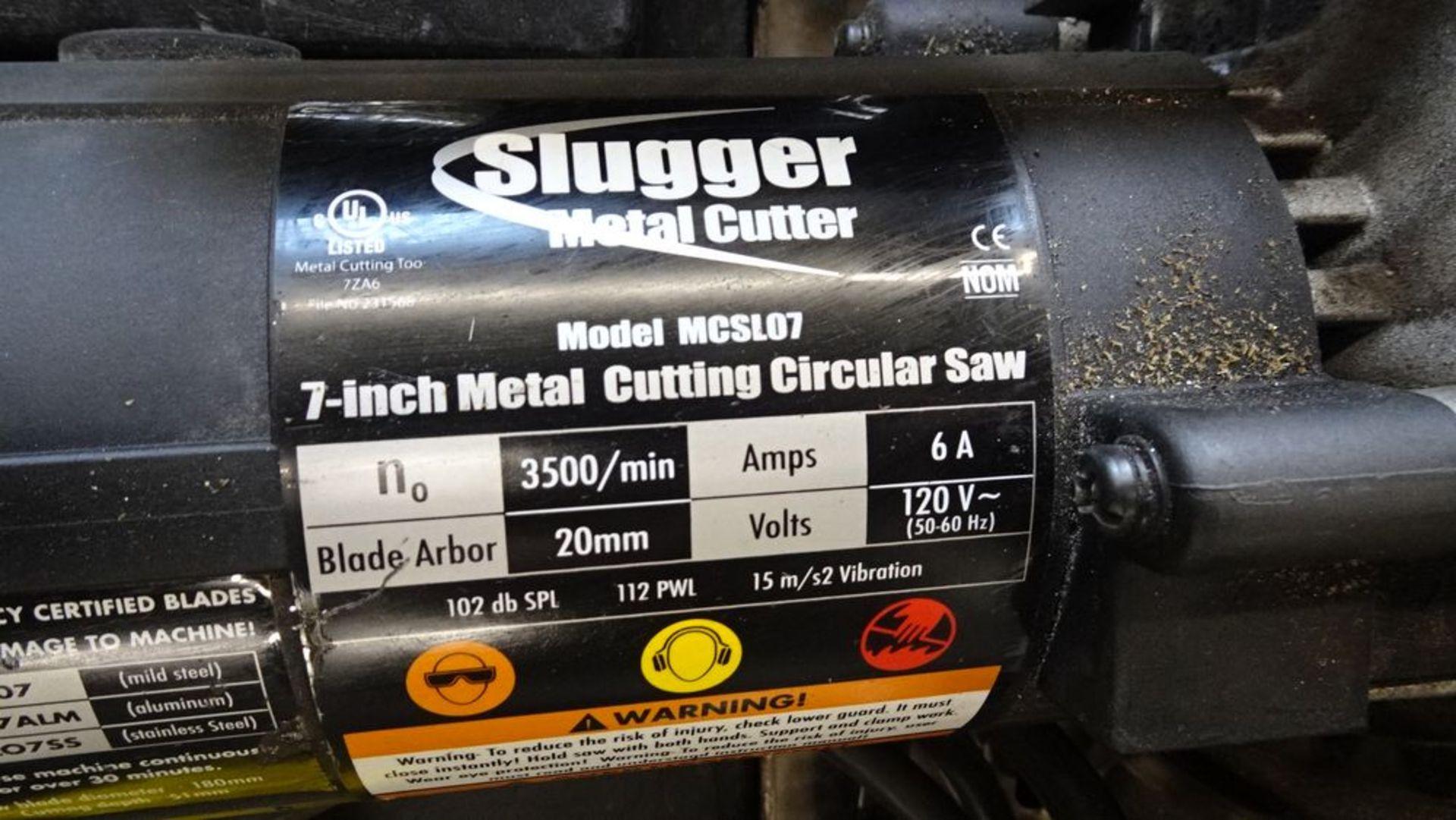 """Lot 30 - SLUGGER MCSL07 7"""" METAL CUTTING CIRCULAR SAW C/W CASE"""