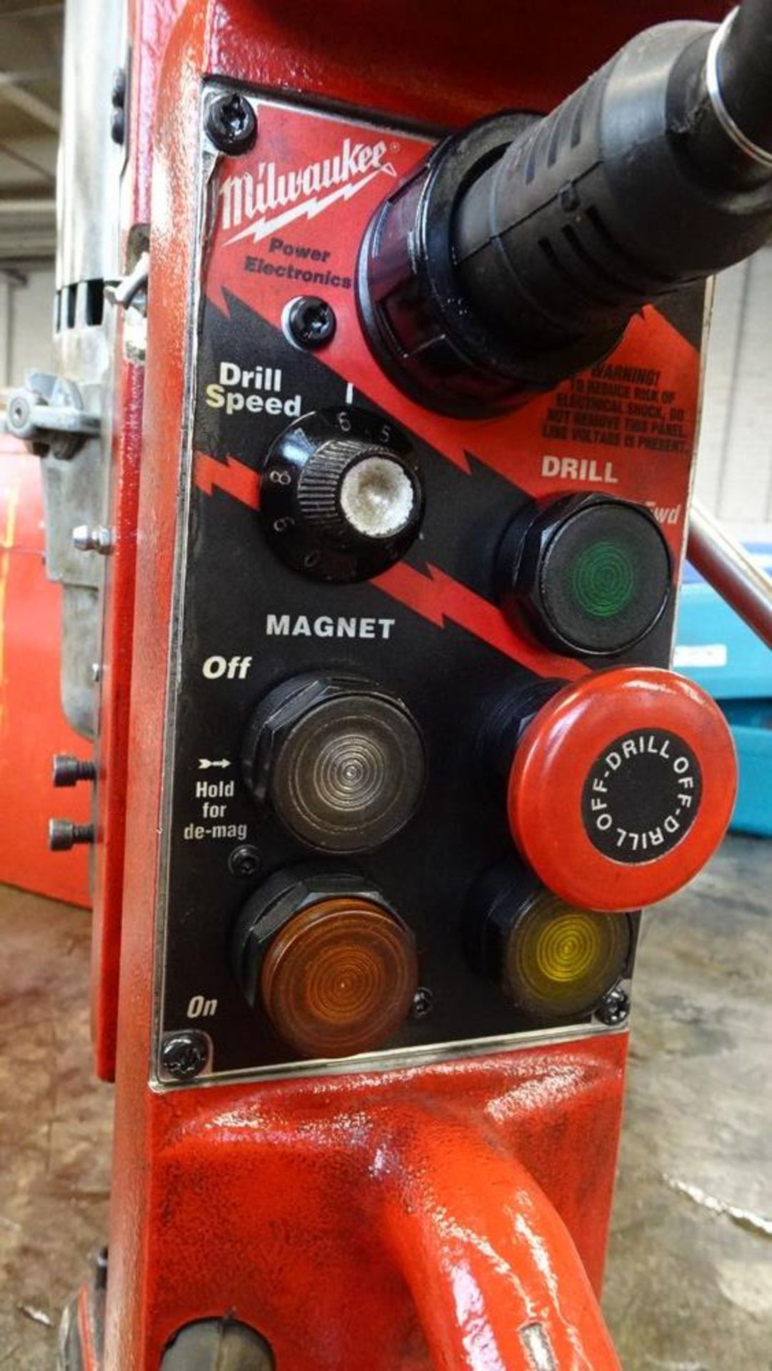 Lot 2 - MILWAUKEE 4203 MAGNETIC PORTABLE DRILL PRESS, 120 VOLTS, S/N A195303061