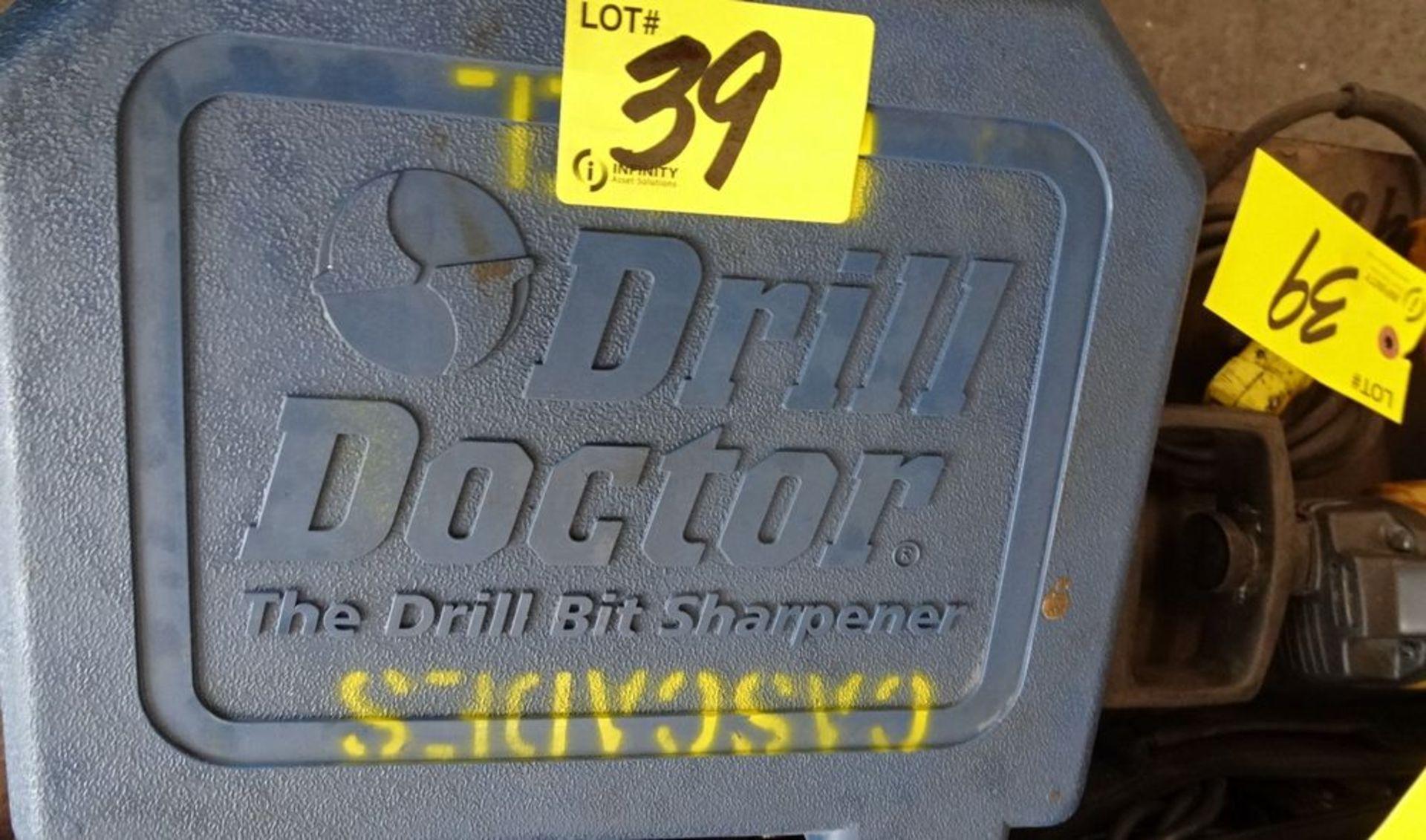 """Lot 39 - ASSORTED TOOLS: DRILL BIT GRINDER, SKIL JIGSAW, DEWALT DRILL, 1/2"""" BAND & BUCKLE KIT"""