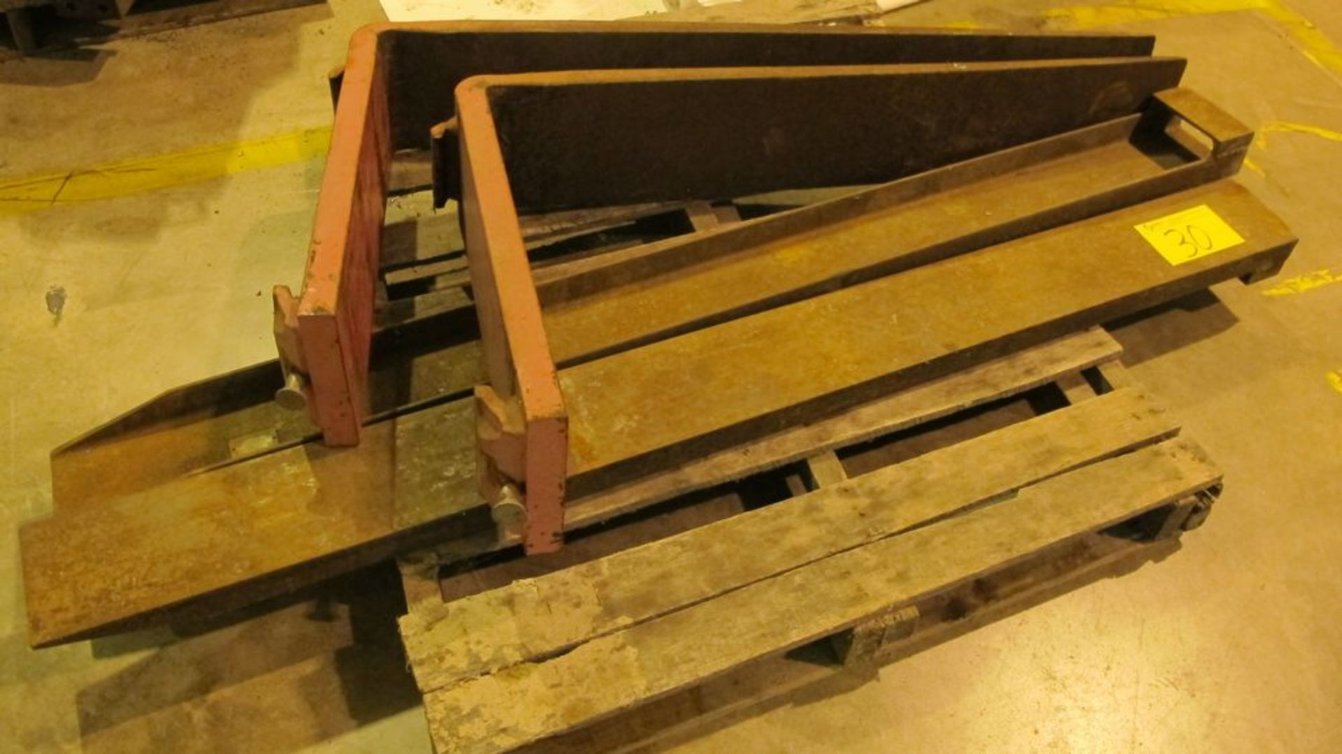 "Lot 30 - PALLET W/45"" FORKS AND 6' FORK EXTENSIONS (WAREHOUSE 52)"