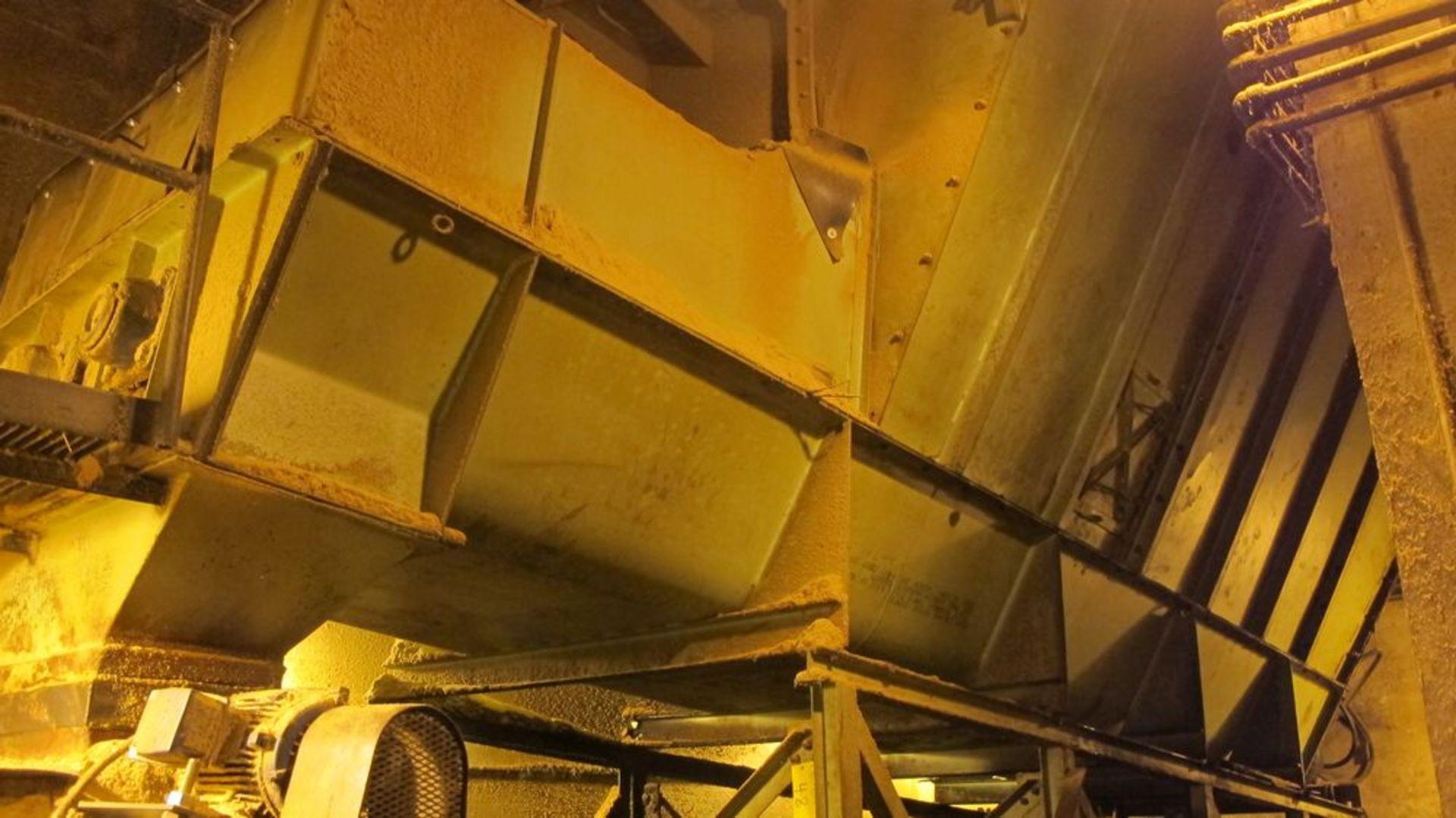 Lot 48 - DUMP HOPPER W/3 ROTARY SCREWS IN BOTTOM, 18'L X 9'W (APPROX) (UNDER TRUCK DUMPER) (WOOD YARD)
