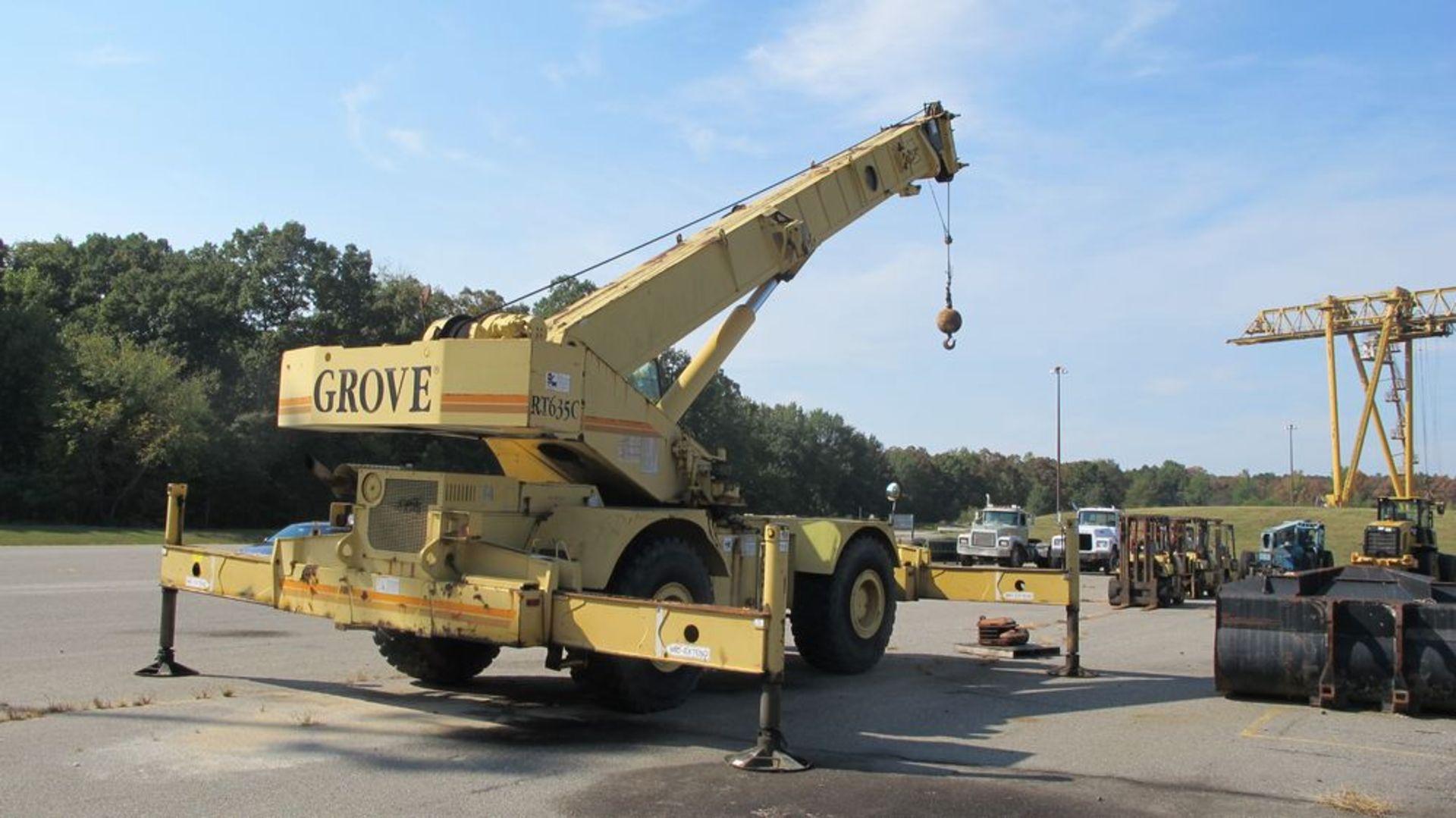 Lot 1 - GROVE RT635C, GB 100A 2360 MOBILE CRANE, VIN 1G1B318143E (RUNNING CONDITION), S/N 81323, 70000 LB