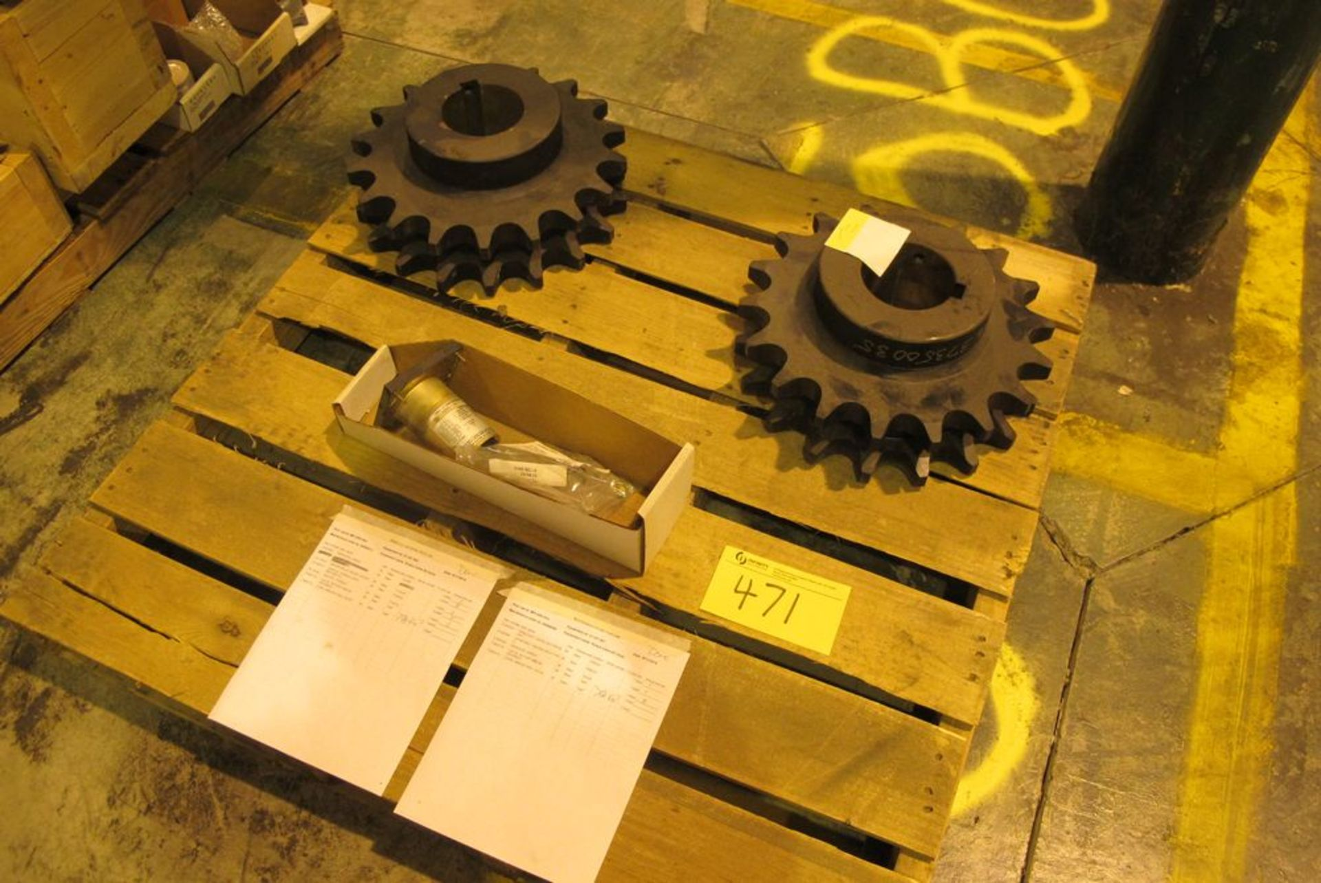 Lot 471 - LOT OF 1 PALLET OF ROTARY VALVE SPROCKETS (WHSE 52)