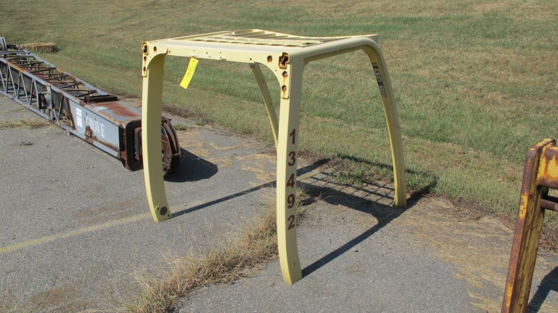 """Lot 34 - FORK TRUCK UPPER GUARD CAGE ATTACHMENT, 48""""W X 48""""D (WAREHOUSE 30 - PARKING LOT)"""