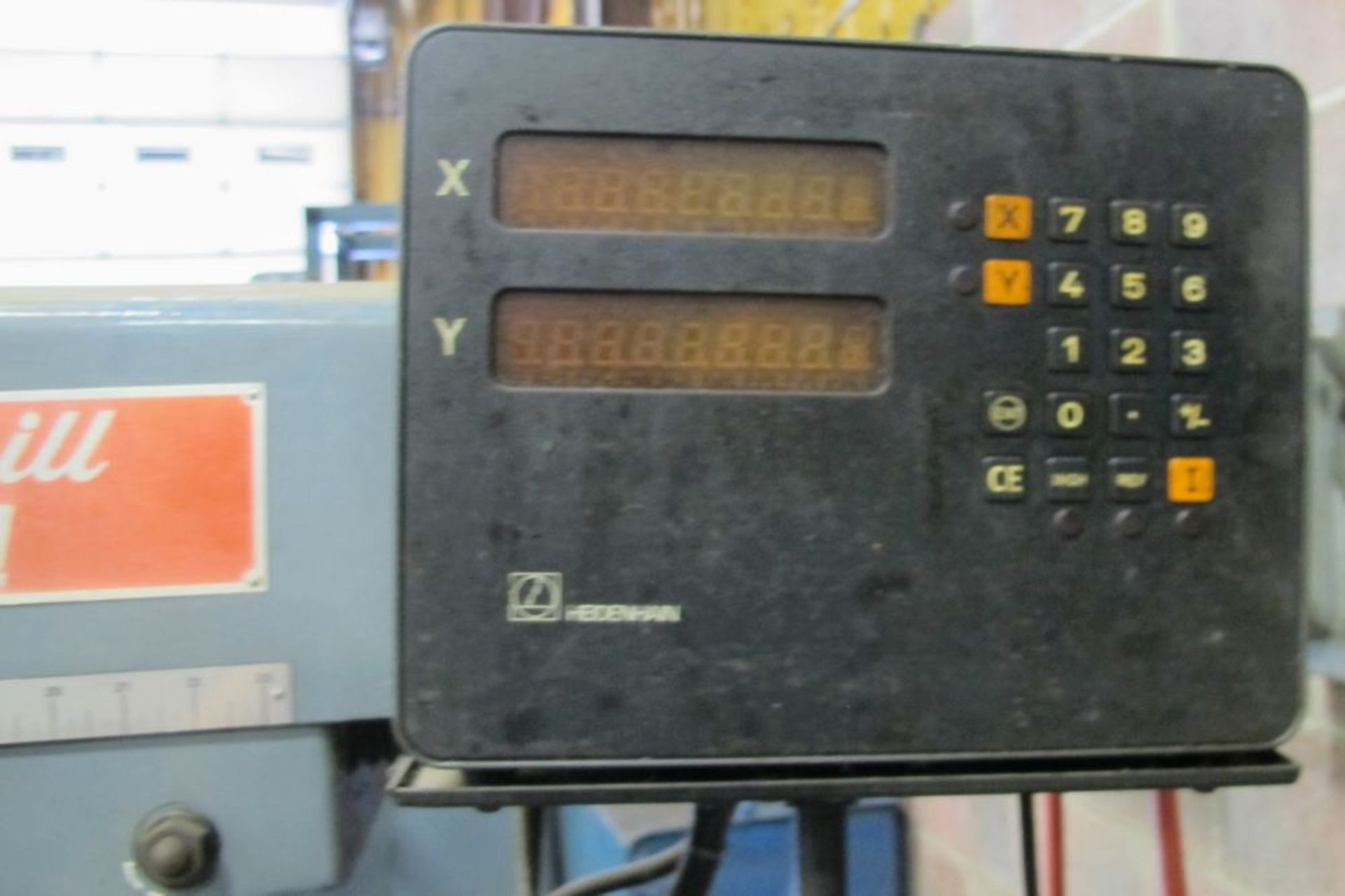 "Lot 93 - KONDIA FV-1 Vertical Milling Machine, 12"" x 48"" Table, Heidenhain 2-Axis DRO, 4,000 RPM, s/n U-440"
