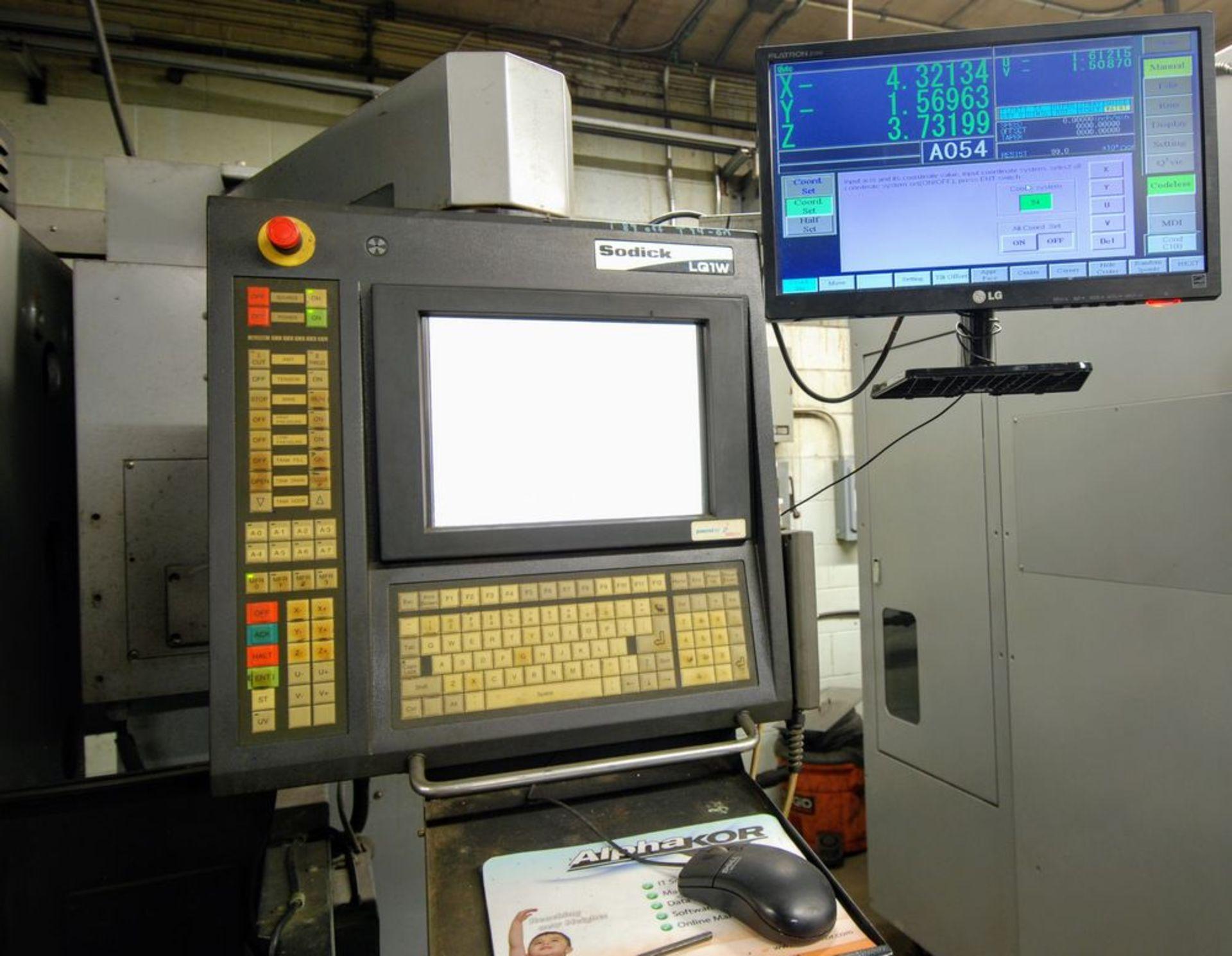 """Lot 81 - 2004SODICKAQ325L Wire EDM, LQ1W Control, s/n 2056, Travels: X-13.7"""", Y-9.8"""", Z-8.6"""", UV-3.1"""", Boyu"""