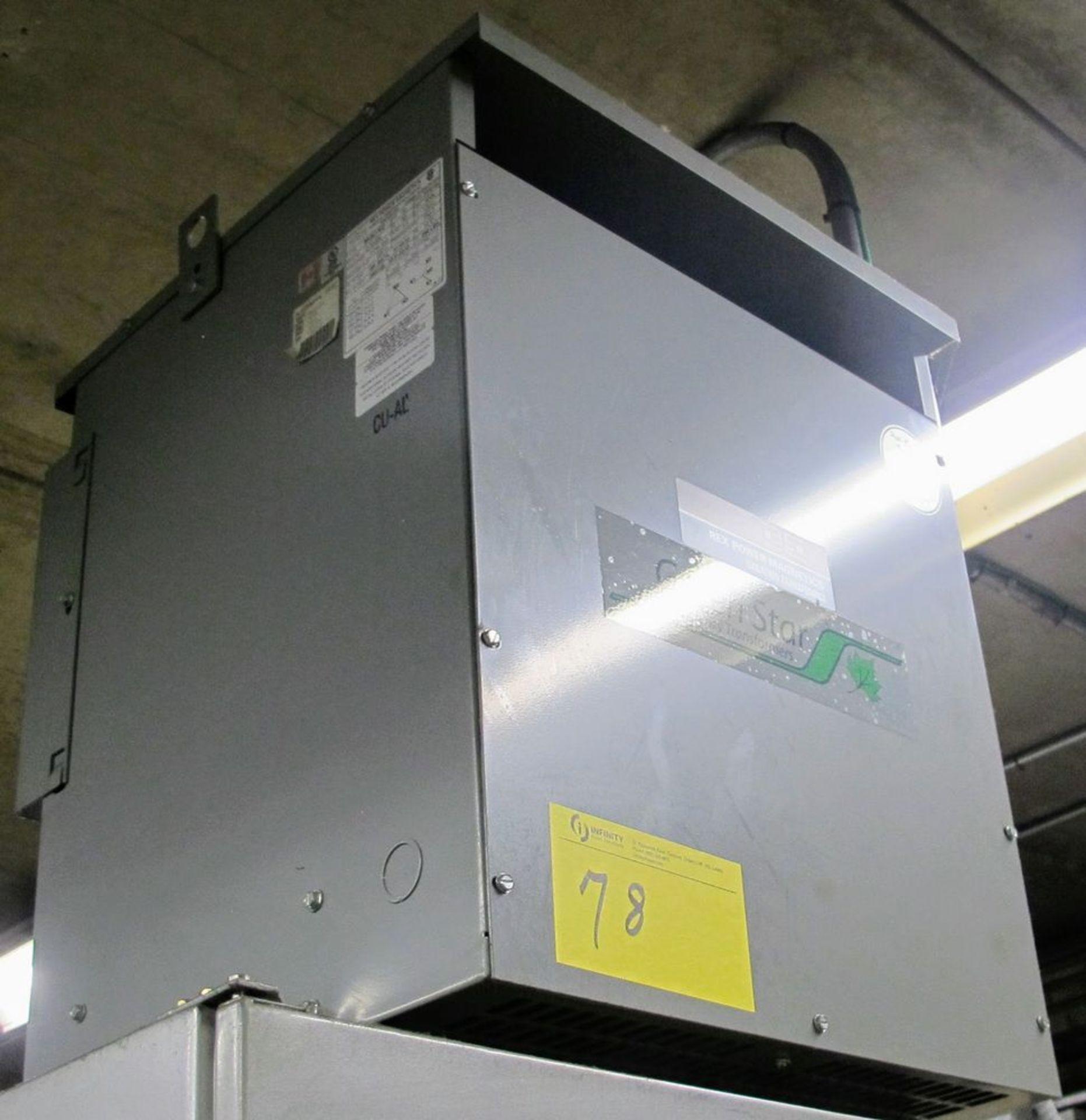 Lot 78 - REX POWER MAGNETICS TRANSFORMER, 30KVA, 600V PRIMARY, 208/120 SECONDARY