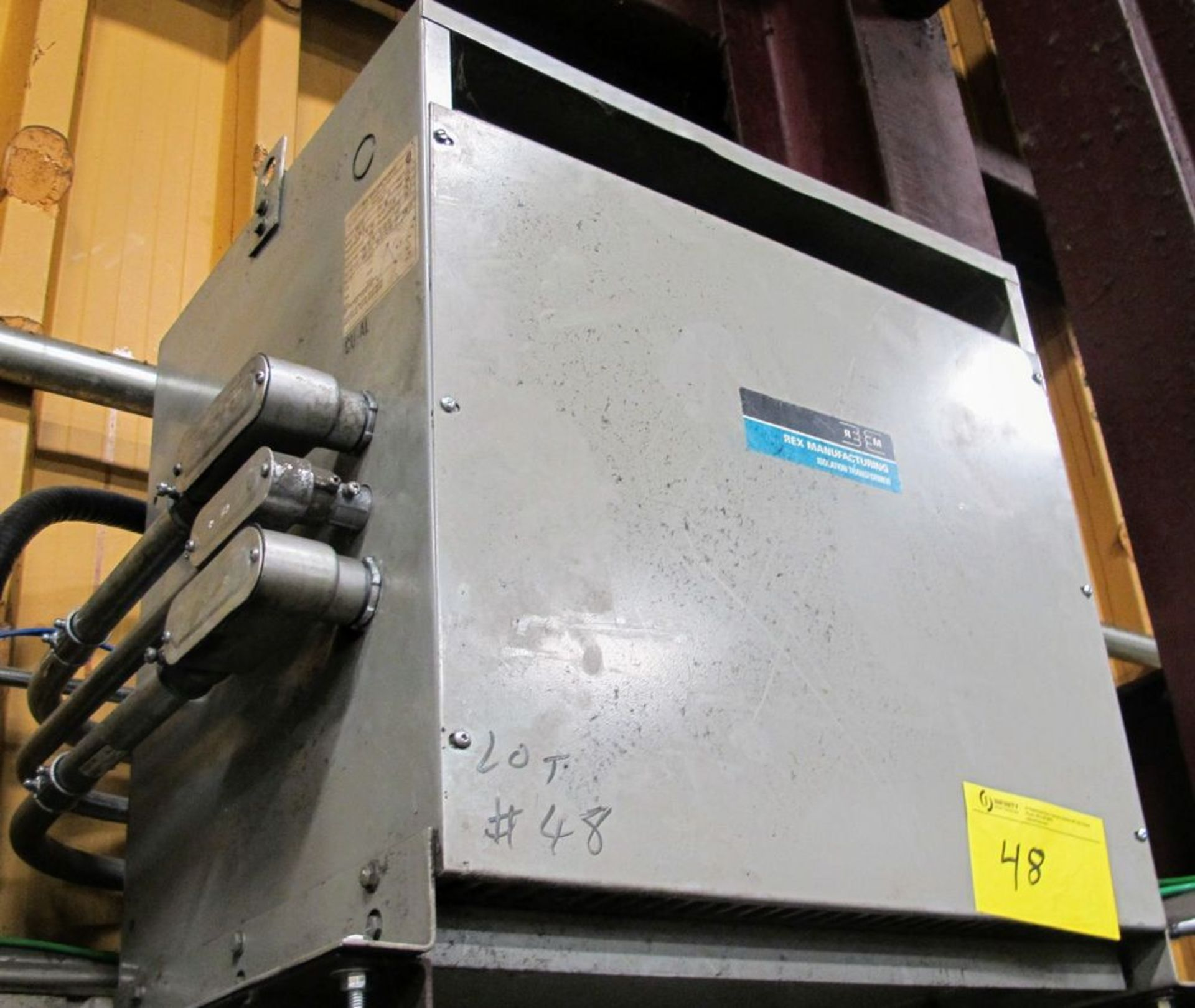 Lot 48 - REX TRANSFORMER, 51KVA, 590V PRIMARY, 400/231 SECONDARY