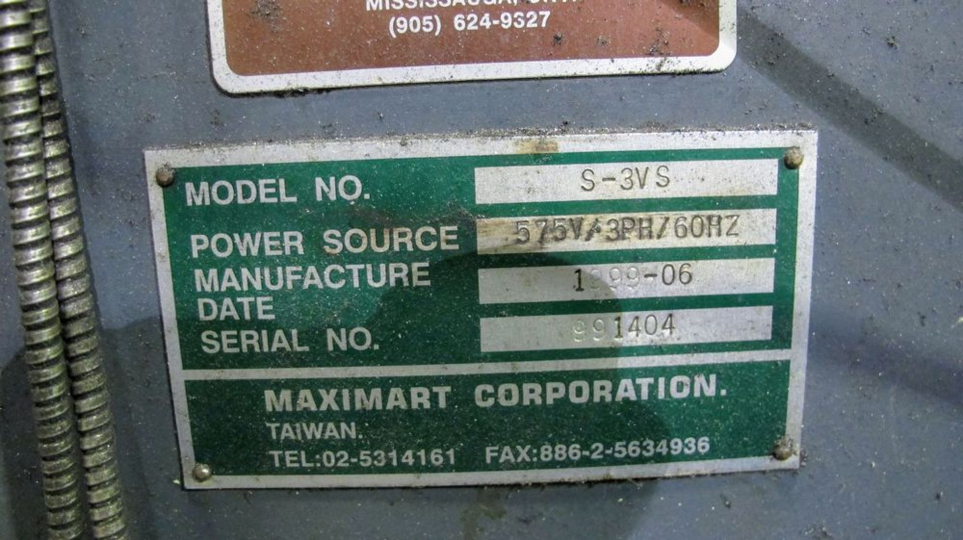 """Lot 91 - MAXIMART S-3VS Vertical Milling Machine, s/n 991404, 10"""" x 50"""" Table, Newall 2-Axis DRO, 3HP, 4,"""