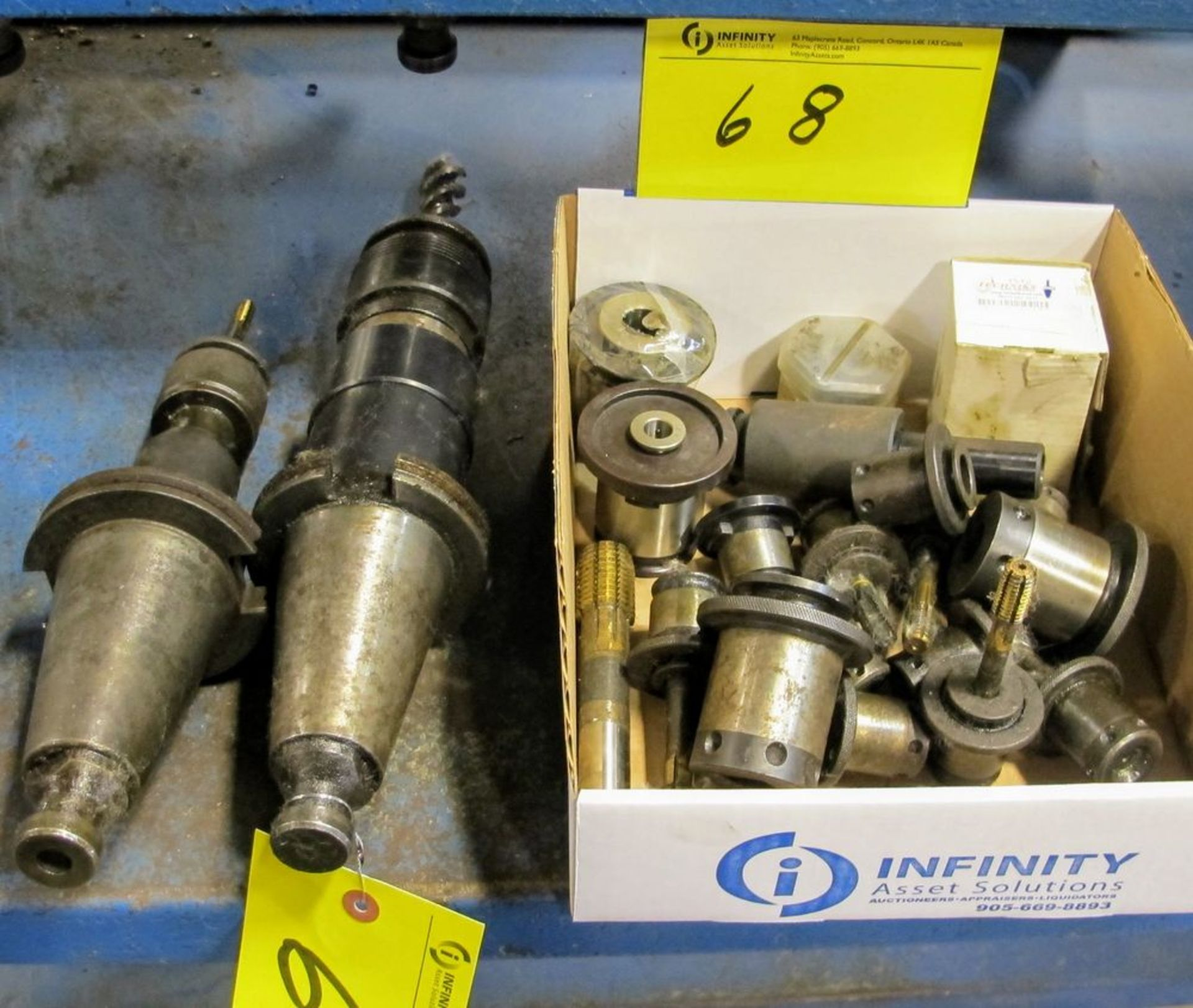 Lot 68 - LOT ASST. QUICK RELEASE HOLDERS W/ (2) 50 TAPER TOOL HOLDERS AND TOOLING