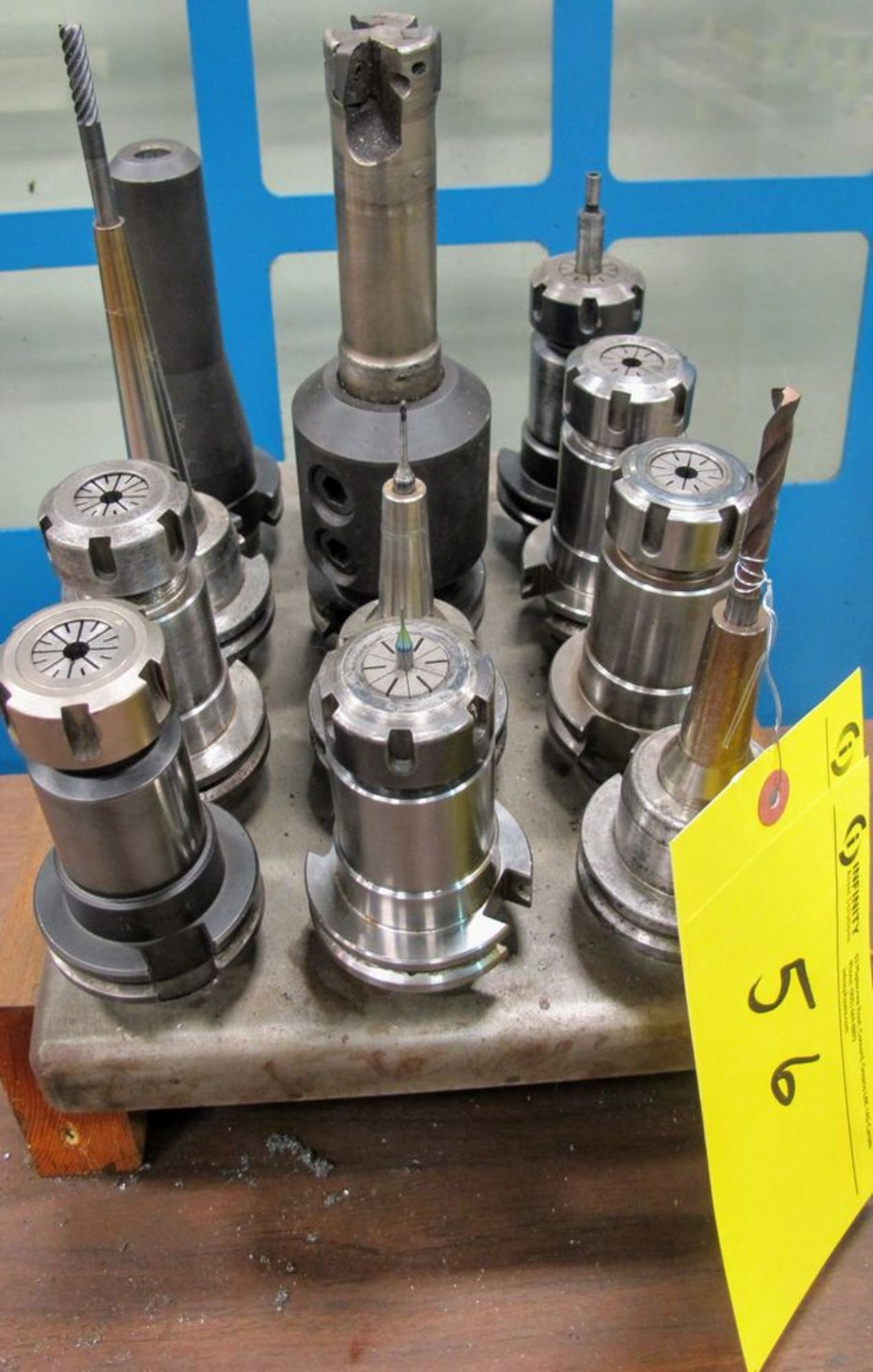 Lot 56 - LOT (12) ASST. CAT40 TOOL HOLDERS W/ TOOLING
