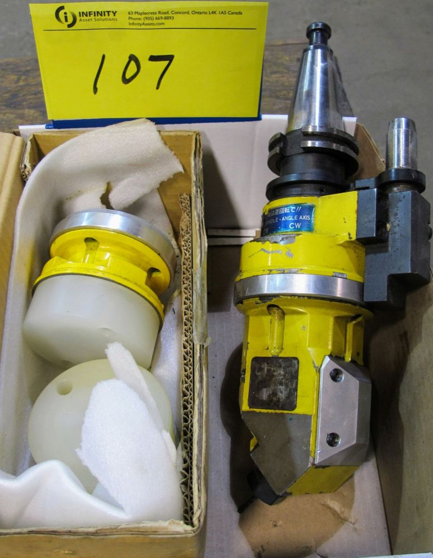 Lot 107 - MACHINE SPINDLE ANGLE AXIS ATTACHMENT KIT
