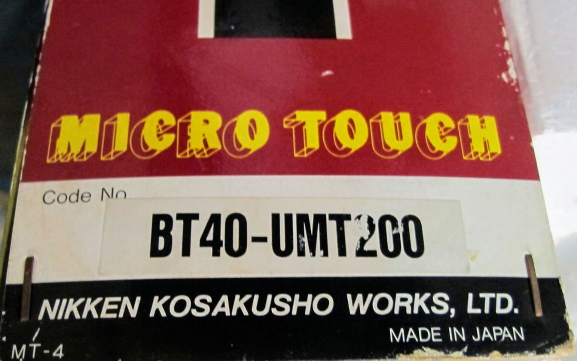 Lot 107A - NIKKEN BT40-UMT200 MICROTOUCH PROBE