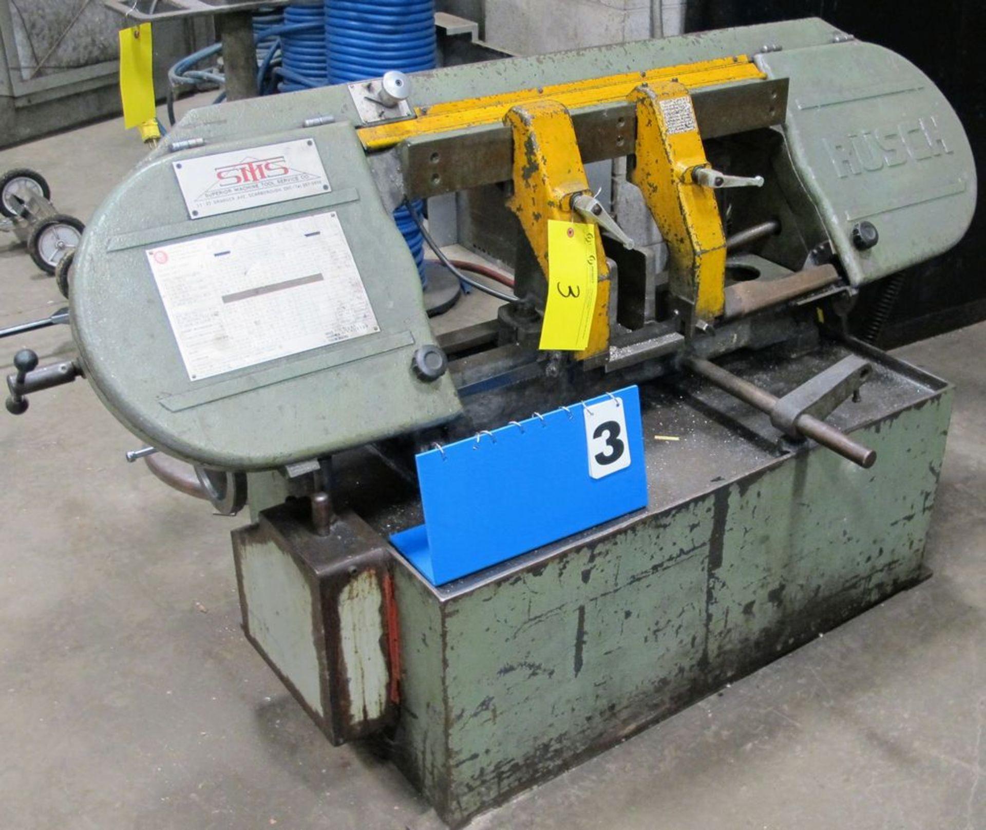 Lot 3 - RUSCH HBS 250 Horizontal Bandsaw