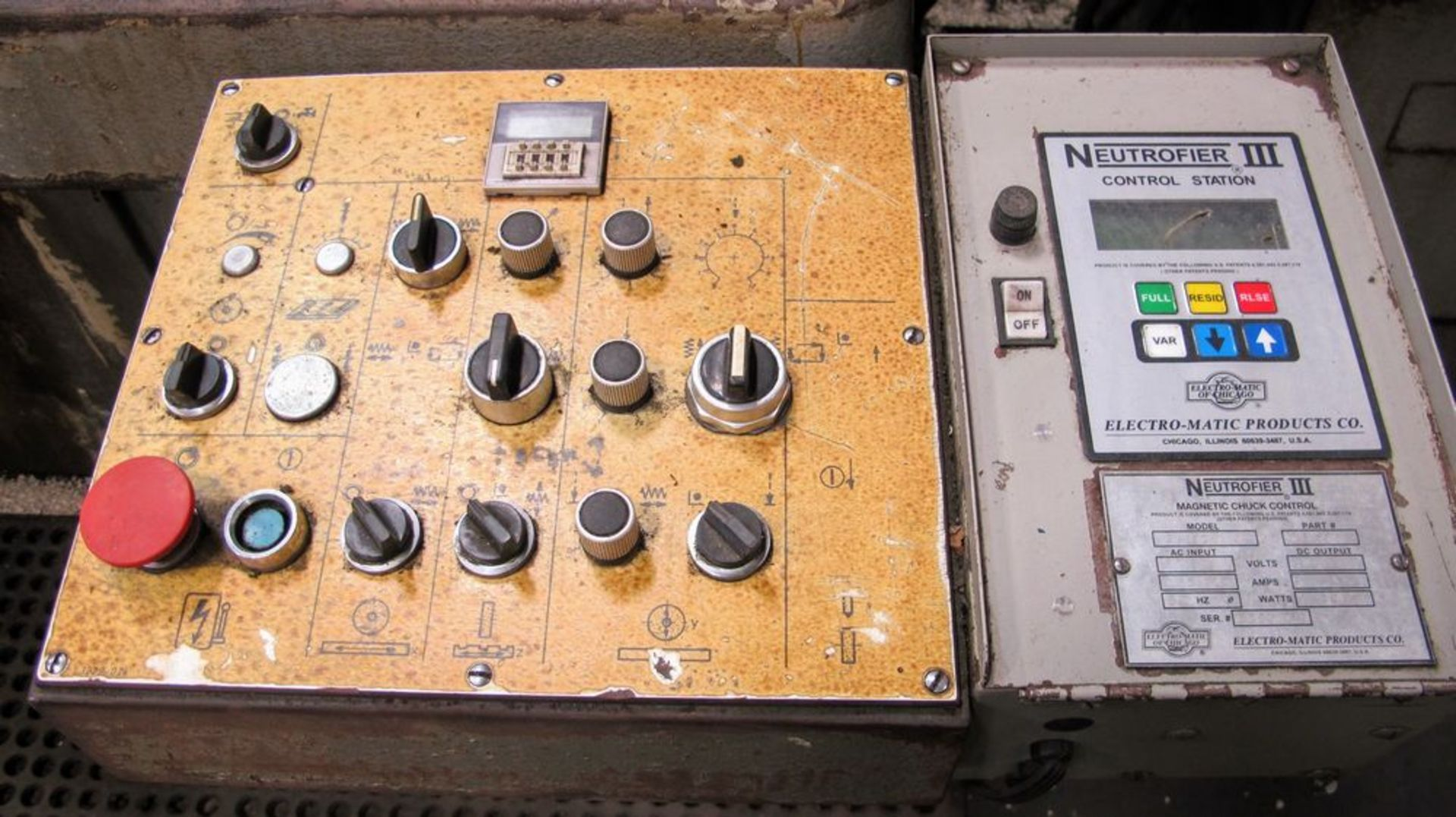 "Lot 109 - BLOHM-HFS Surface Grinder, 20"" x 48"" Magnetic Chuck, s/n 1101008, Neutrofier III Control Station"