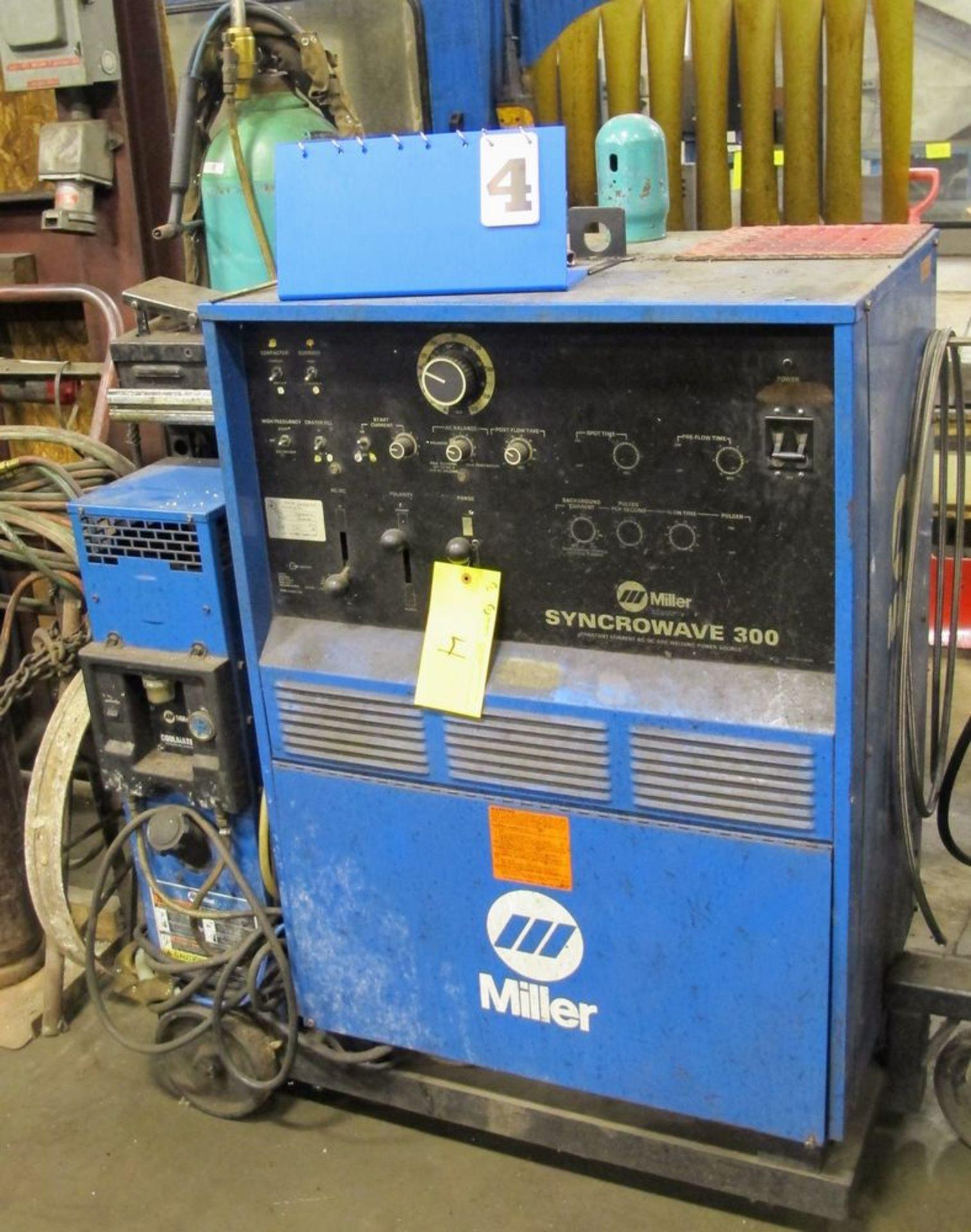 Lot 4 - MILLER Syncrowave 300 Welder w/ Miller Coolmate V3 Cooling Unit