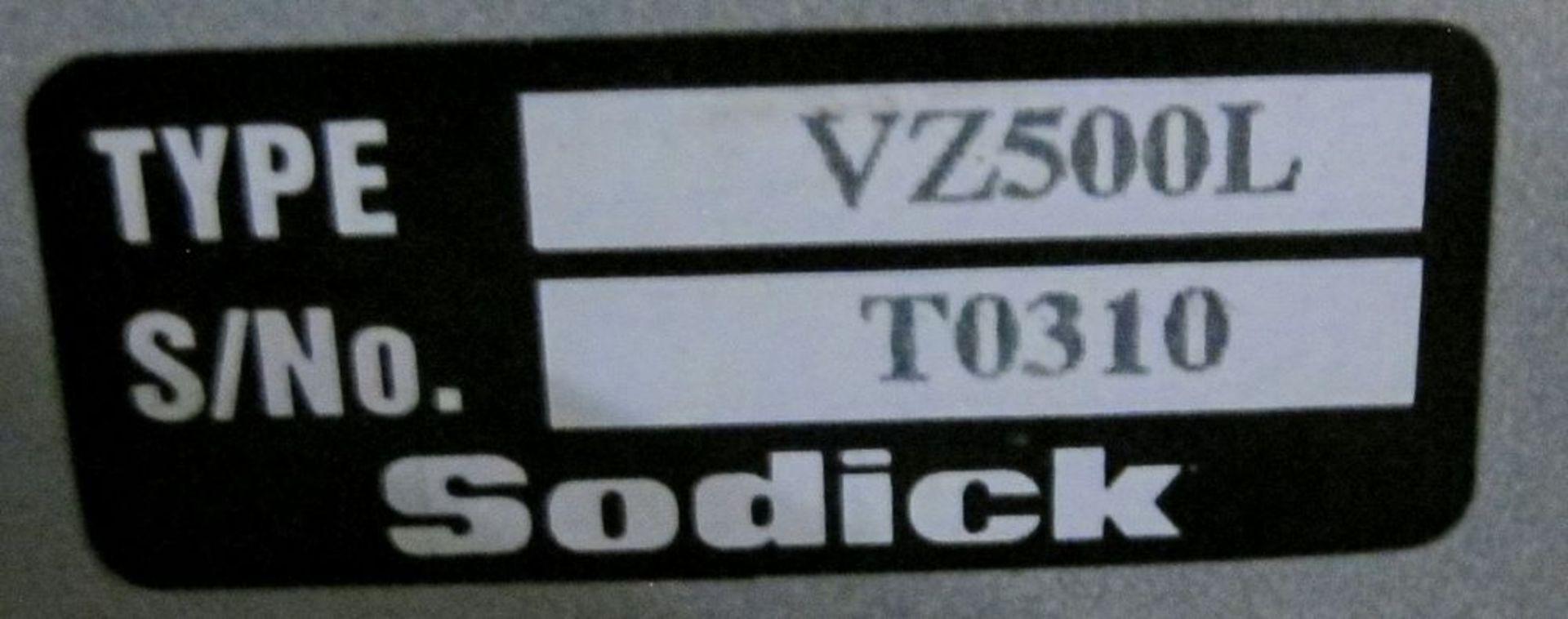 Lot 71 - 2016SODICKVZ500L Wire EDM, LN2W Control, s/n T0310, Travels: X-500mm, Y-350mm, Z-250mm