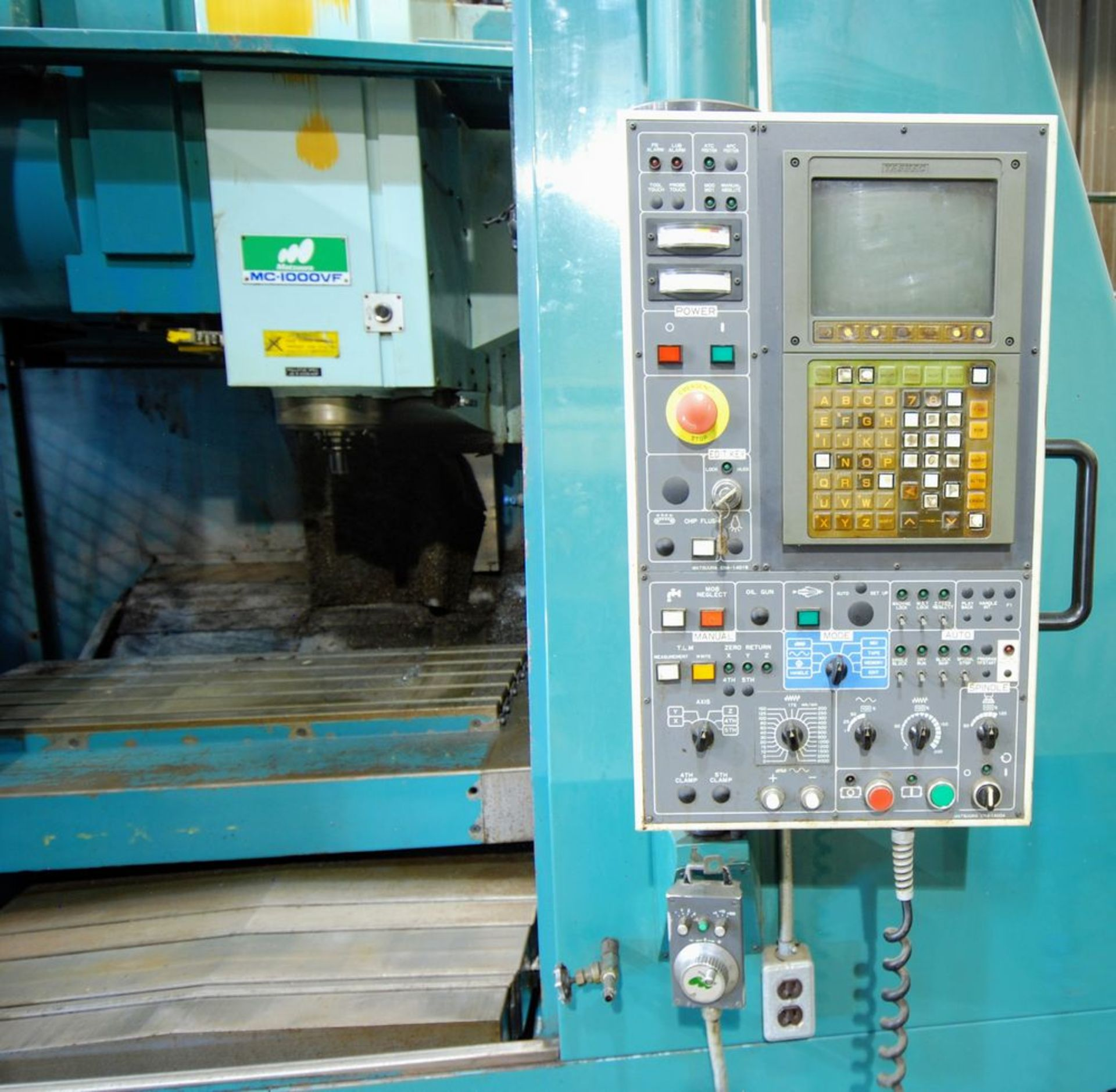 "Lot 36 - MATSUURA MC-1000VF CNC Vertical Machining Center, 20"" x 44"" Table, Matsuura EN4-1400A CNC"