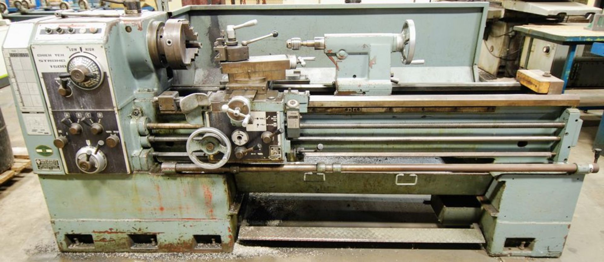 """Lot 95 - CHIEN YEH STRONG 1500 Engine Lathe, 3-Jaw Chuck, 20"""" Swing, 74"""" Bed, Tailstock, Tool Post, 1,800"""