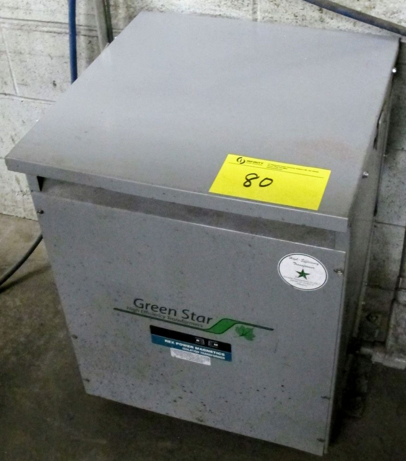 Lot 80 - REX POWER MAGNETICS TRANSFORMER, 30KVA, 600V PRIMARY, 208/120 SECONDARY