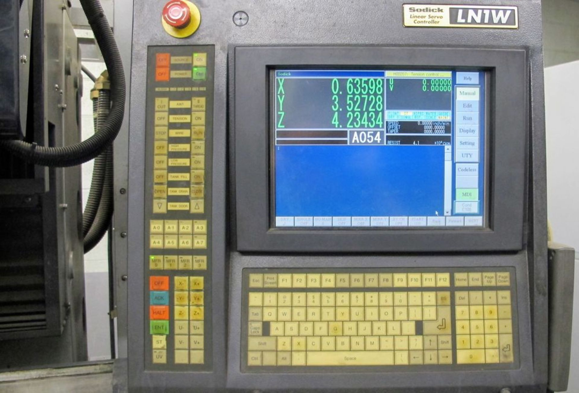 """Lot 83 - 2003SODICKAQ325L Wire EDM, LQ1W Control, s/n 1686, Travels: X-13.7"""", Y-9.8"""", Z-8.6"""", UV-3.1"""", Boyu"""