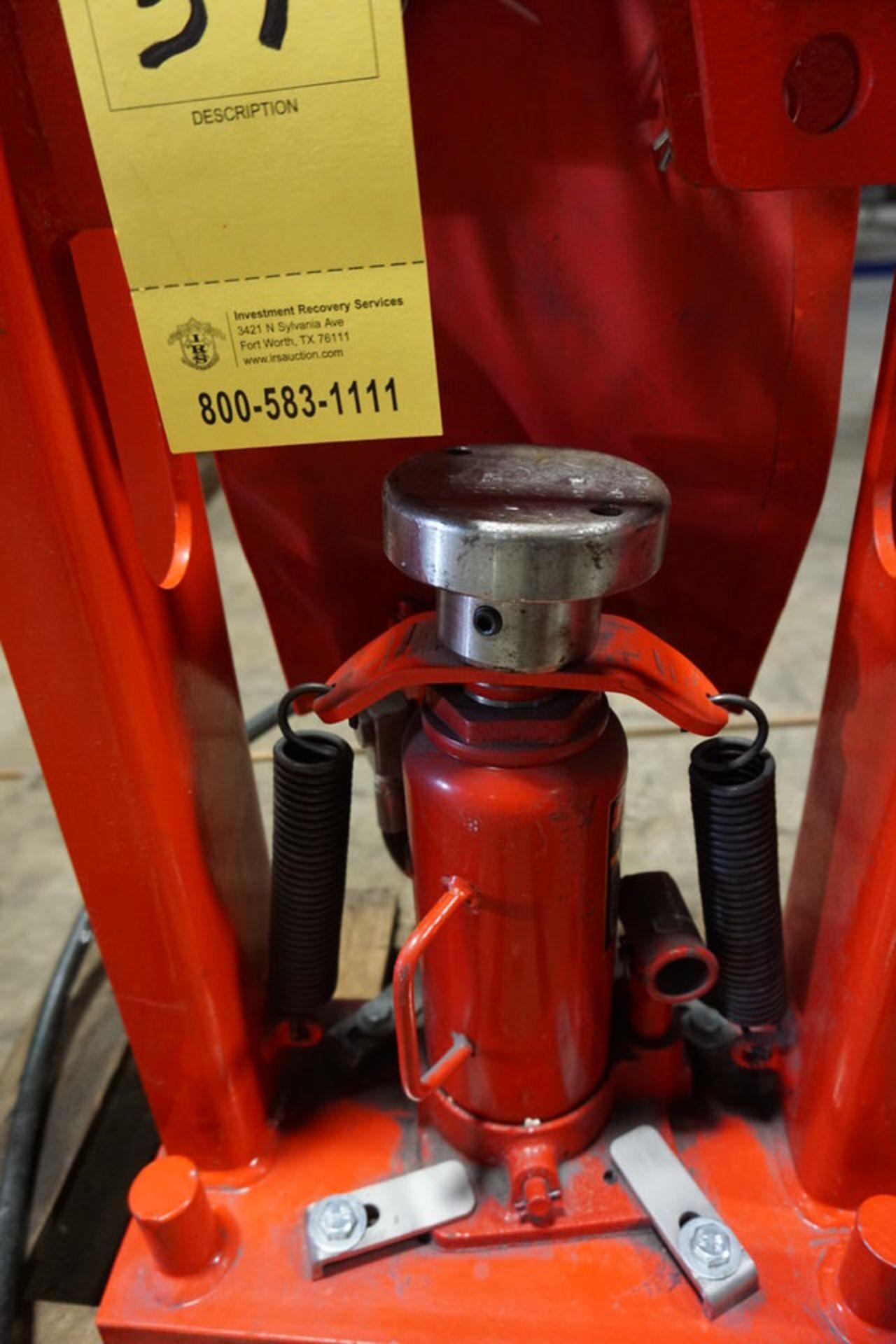 Lot 39 - BIG RED 12 TON HYDRAULIC BENCH PRESS (Location: 903 Blue Starr, Claremore, OK 74017)