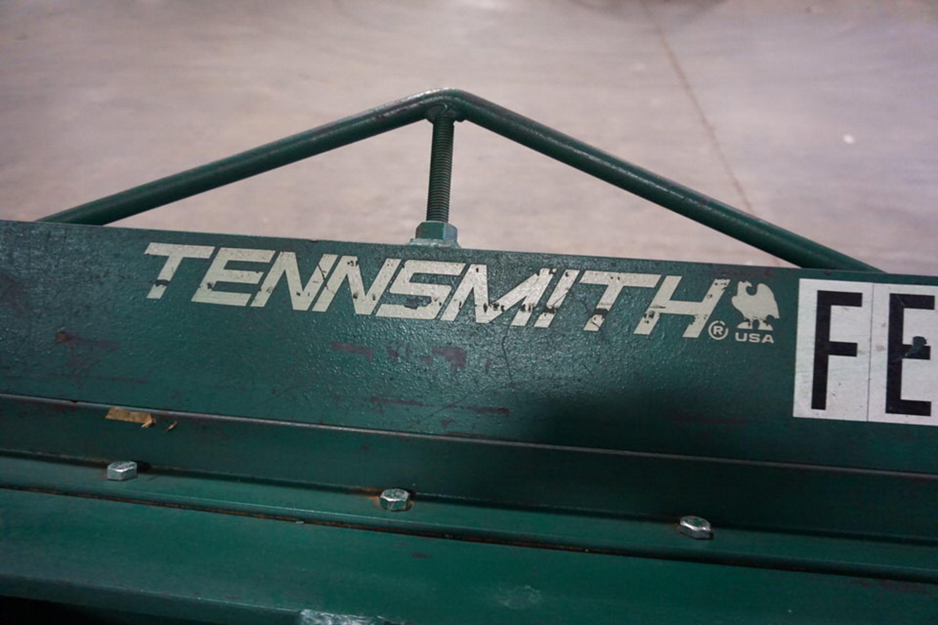 Lot 7 - TENNSMITH 4' SHEET METAL BLADE, MDL: HB54816, 16 GA CAP W/ STAND (Location: 903 Blue Starr,