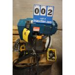 Lot 2 - DEMAG 1 TON CHAIN HOIST, TYPE DC-PRO, W/ PENDANT CTRL & TROLLEY (Location: 903 Blue Starr,