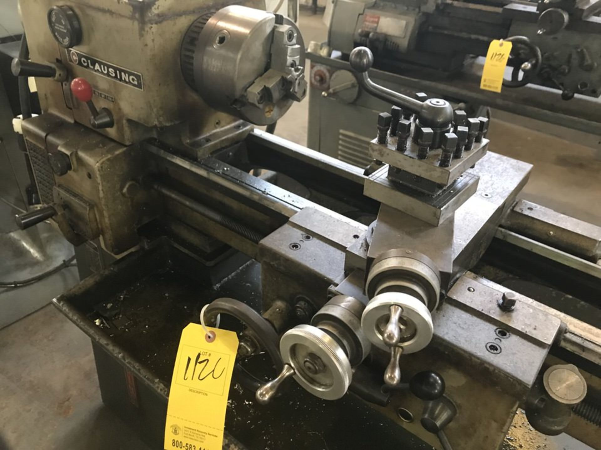 "Lot 112C - Clausing 5938 Lathe, Swing: 12"", Centers: 36"", Tool Post, Tailstock (LOCATION: 3421 N SYLVANIA, FT"