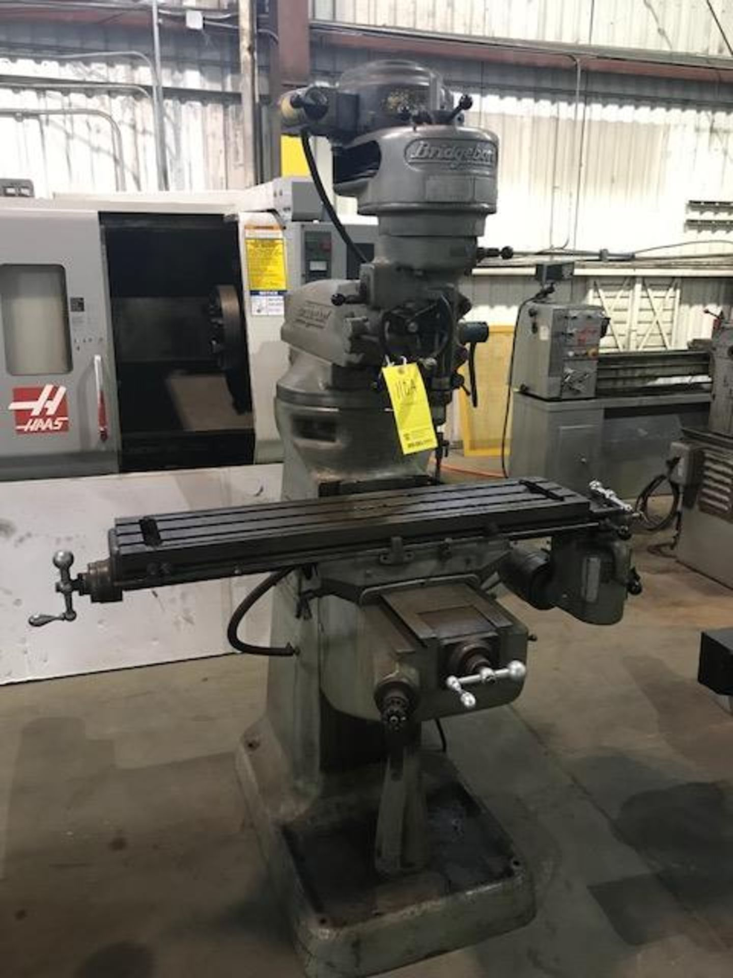 """Lot 110A - Bridgeport Milling Machine, 9"""" x 42"""" Table, 5"""" Quill, 8 Speed Spindle, Max RPM:2,720, X Axis Rapid"""