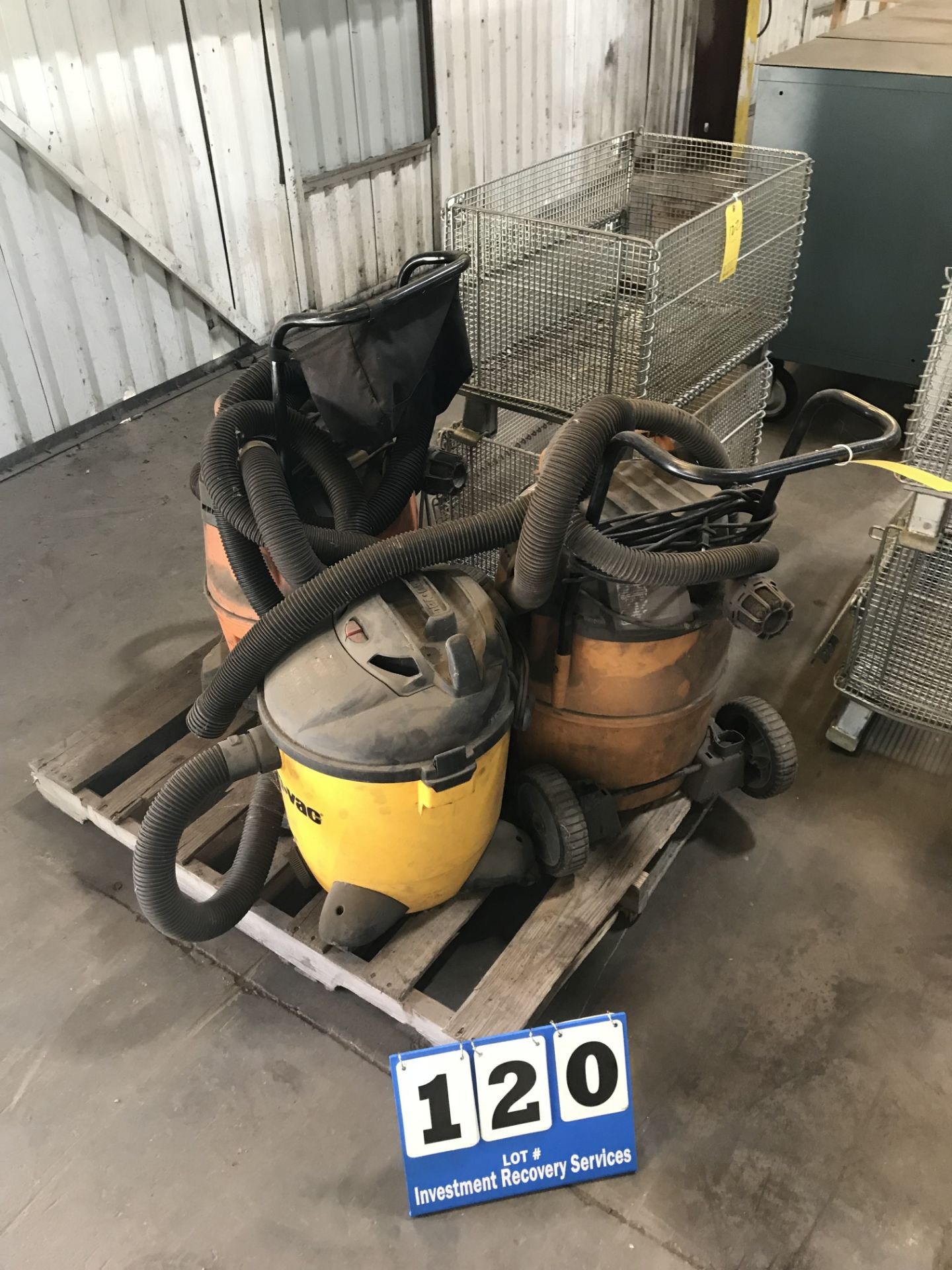 Lot 120 - (3) Shop Vacuum (LOCATION: 3421 N SYLVANIA, FT WORTH, TX, 76111)