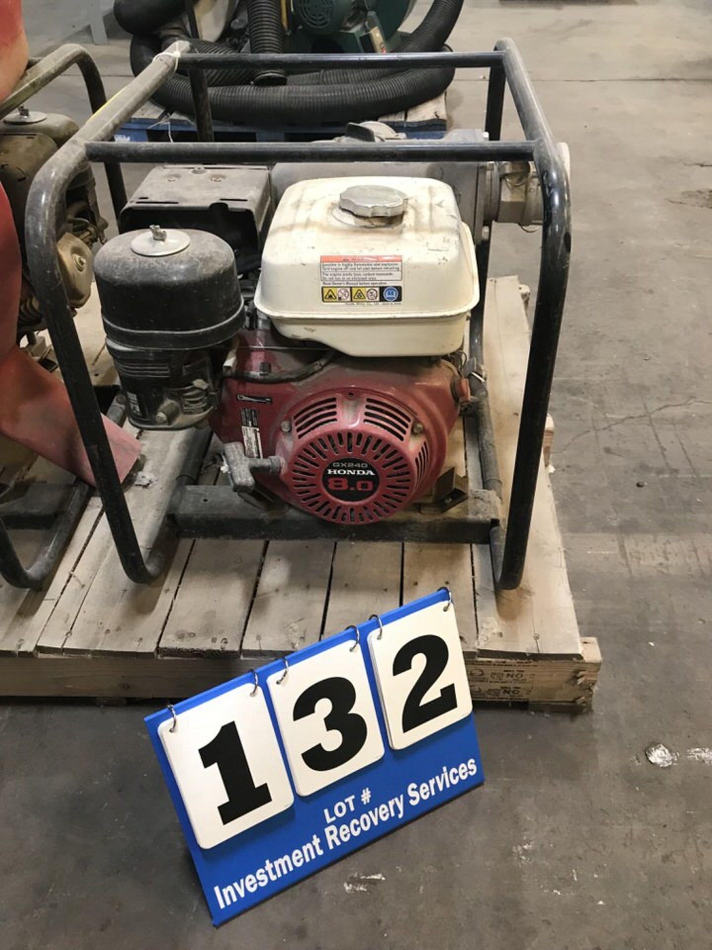 Lot 132 - Honda GX240 Pump (LOCATION: 3421 N SYLVANIA, FT WORTH, TX, 76111)