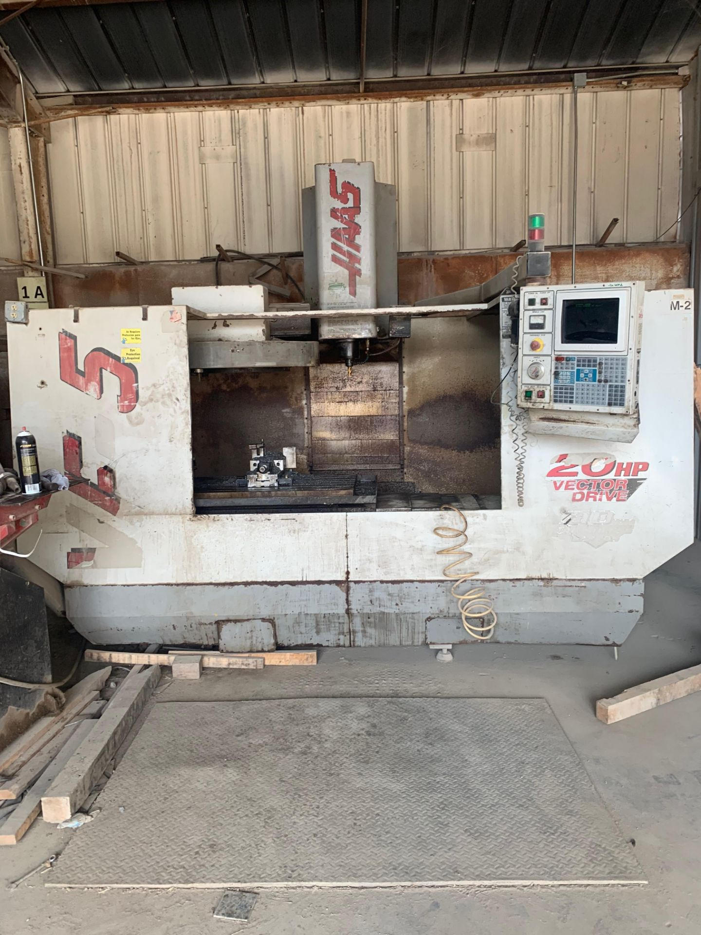 """Lot 111A - 1999 Haas VF5 Vertical Machining Center, 52"""" x 23"""" Table, Travels: X: 50"""", Y: 26"""", Z: 25"""""""