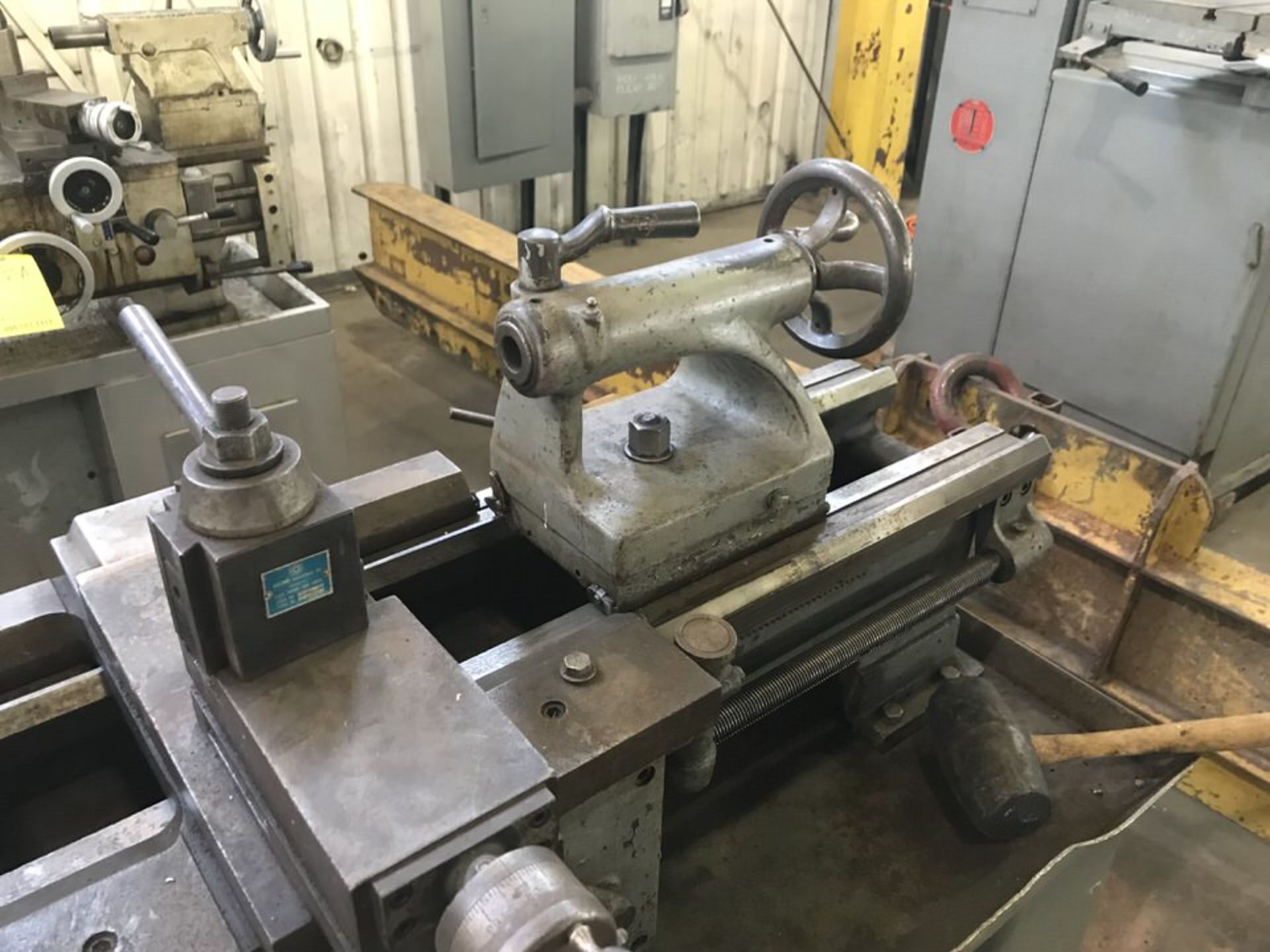 Lot 112B - Logan Lathe, Model: 65204, Swing: , Centers: , Yuasa Tool Post, 3 Jaw Chuck, Tailstock (LOCATION: