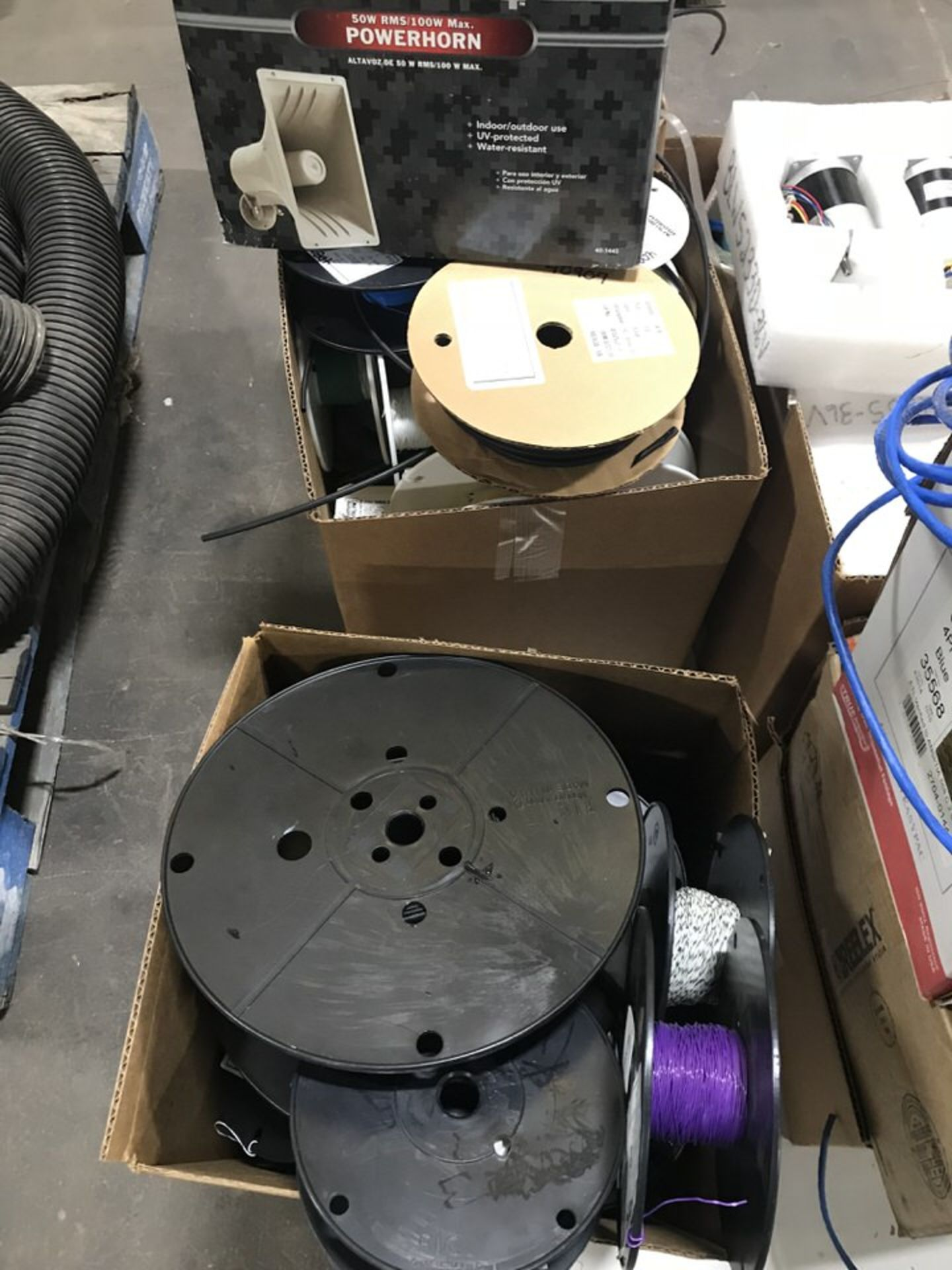 Lot 135A - Electronic Equipment, Cabeling, Inductors, Misc Electronic Componenets (LOCATION: 3421 N SYLVANIA,