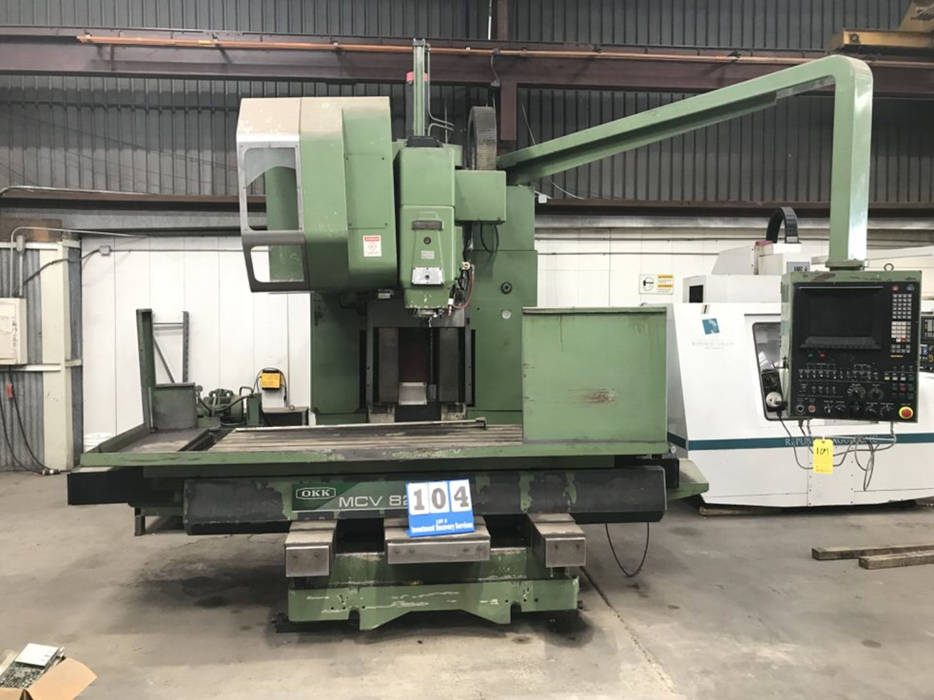 "Lot 104 - Okk MCV 820 Vertical Milling Machine, Table: 78"" x 32"", X Axis:62"", Y Axis: 32"", Z Axis: 28"", Spin"