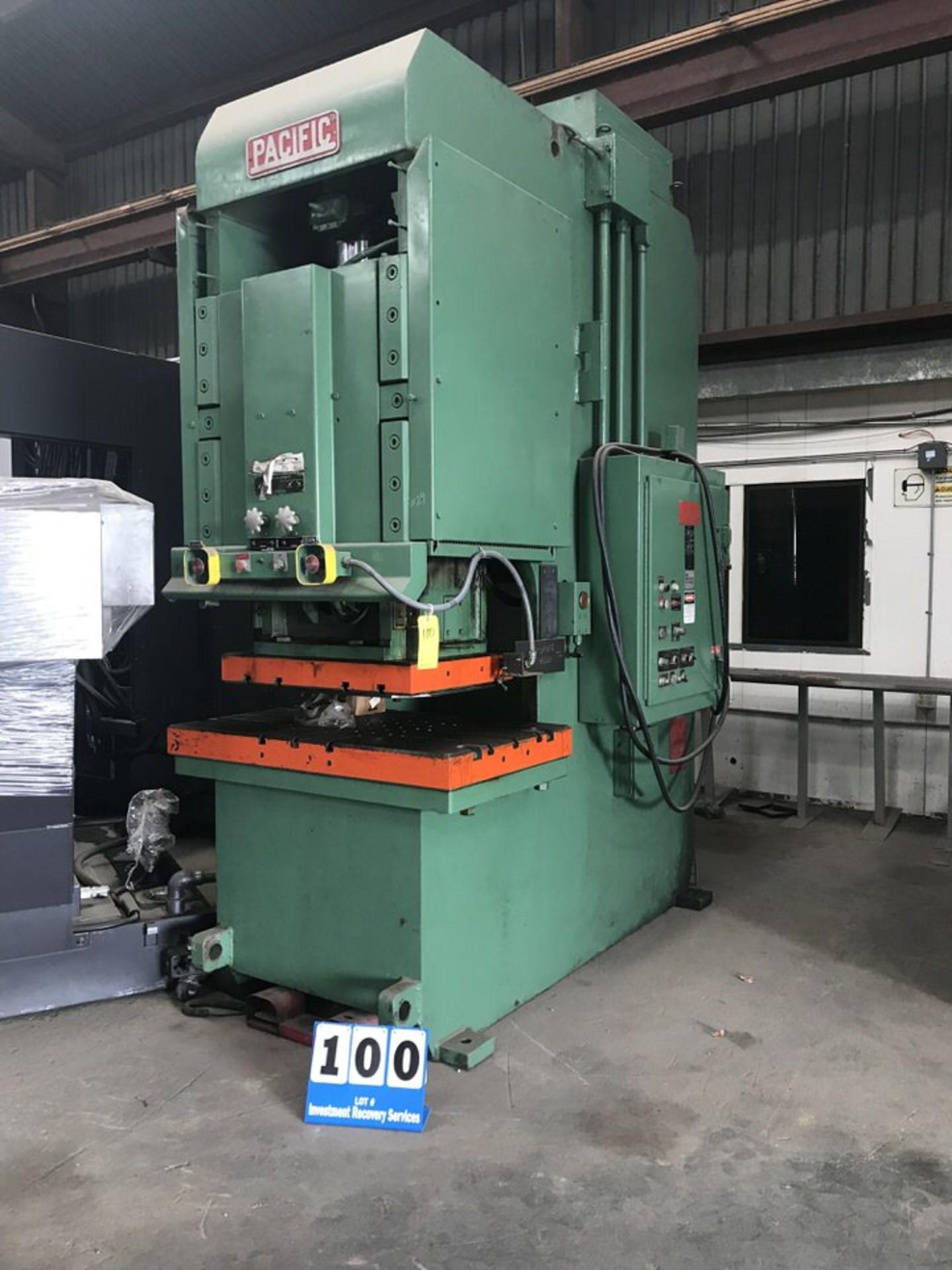 "Lot 100 - Pacific Hydraulic Press, Mdl:150 PF OBS, Cap: 150 Ton, Bed Bolster: 5' Thick x 30.5"" x 50.25"","