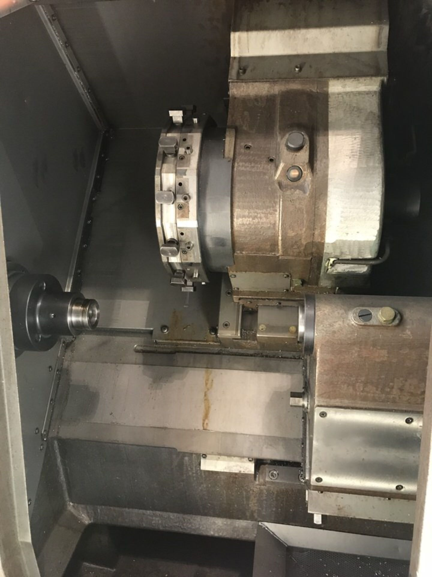 "Lot 111 - Mori Seiki SL-1A Cnc Turning Center, Swing Over Bed: 16.5"", Max Mach Dia: 6.3"", Center Distance:"